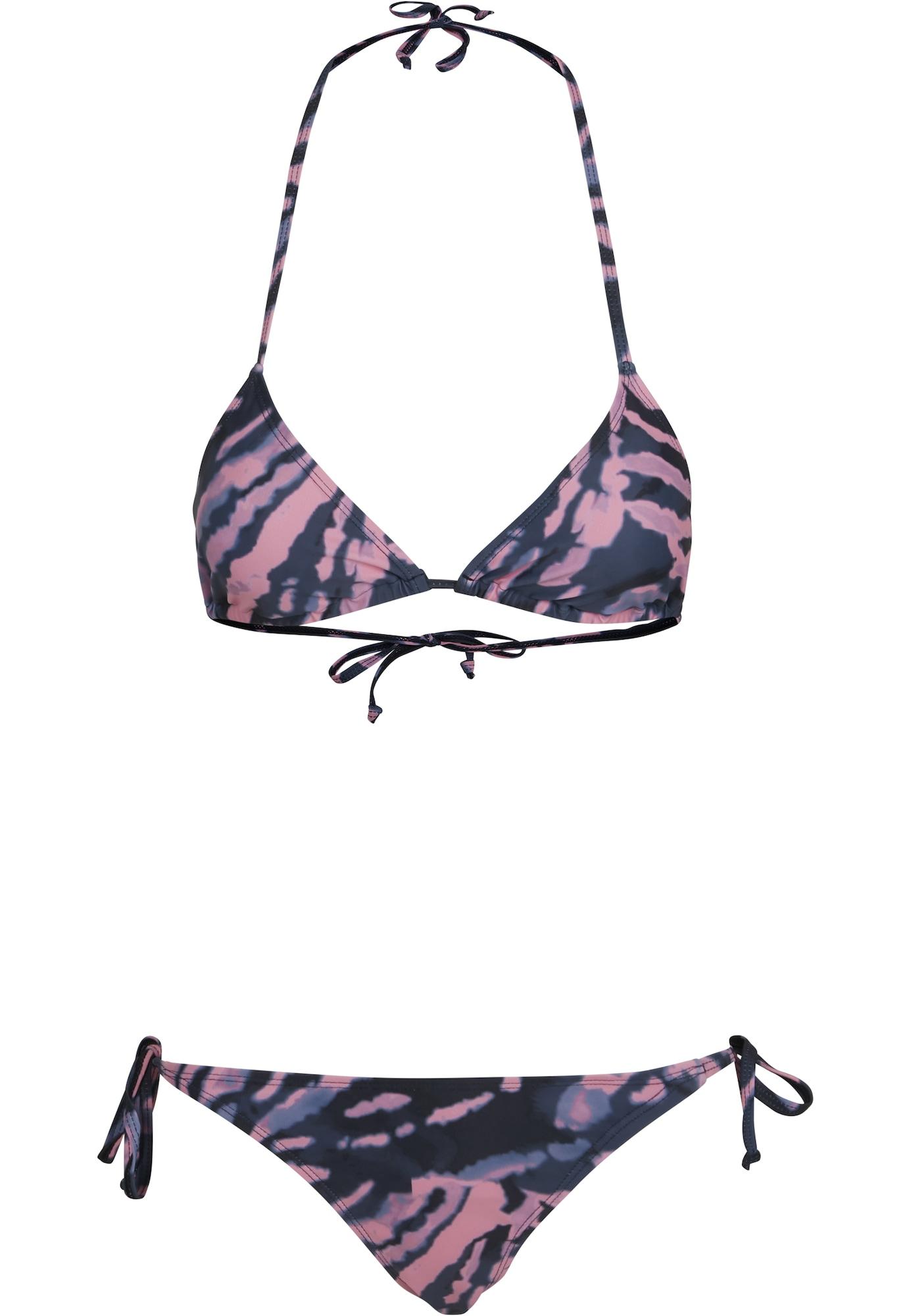 Urban Classics Bikinis rožių spalva / melsvai pilka / nakties mėlyna