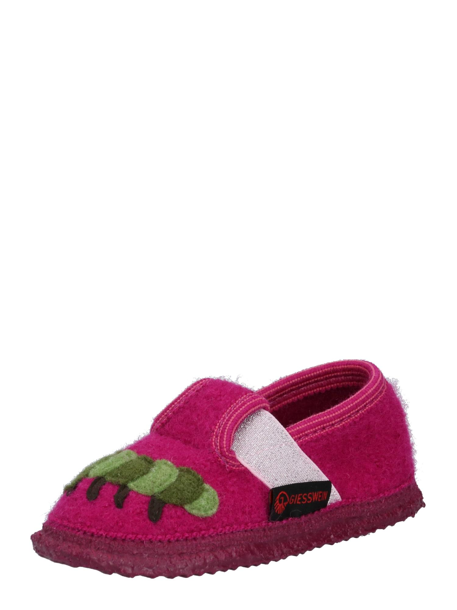 GIESSWEIN Pantofle 'Treffelstein '  zelená / pink