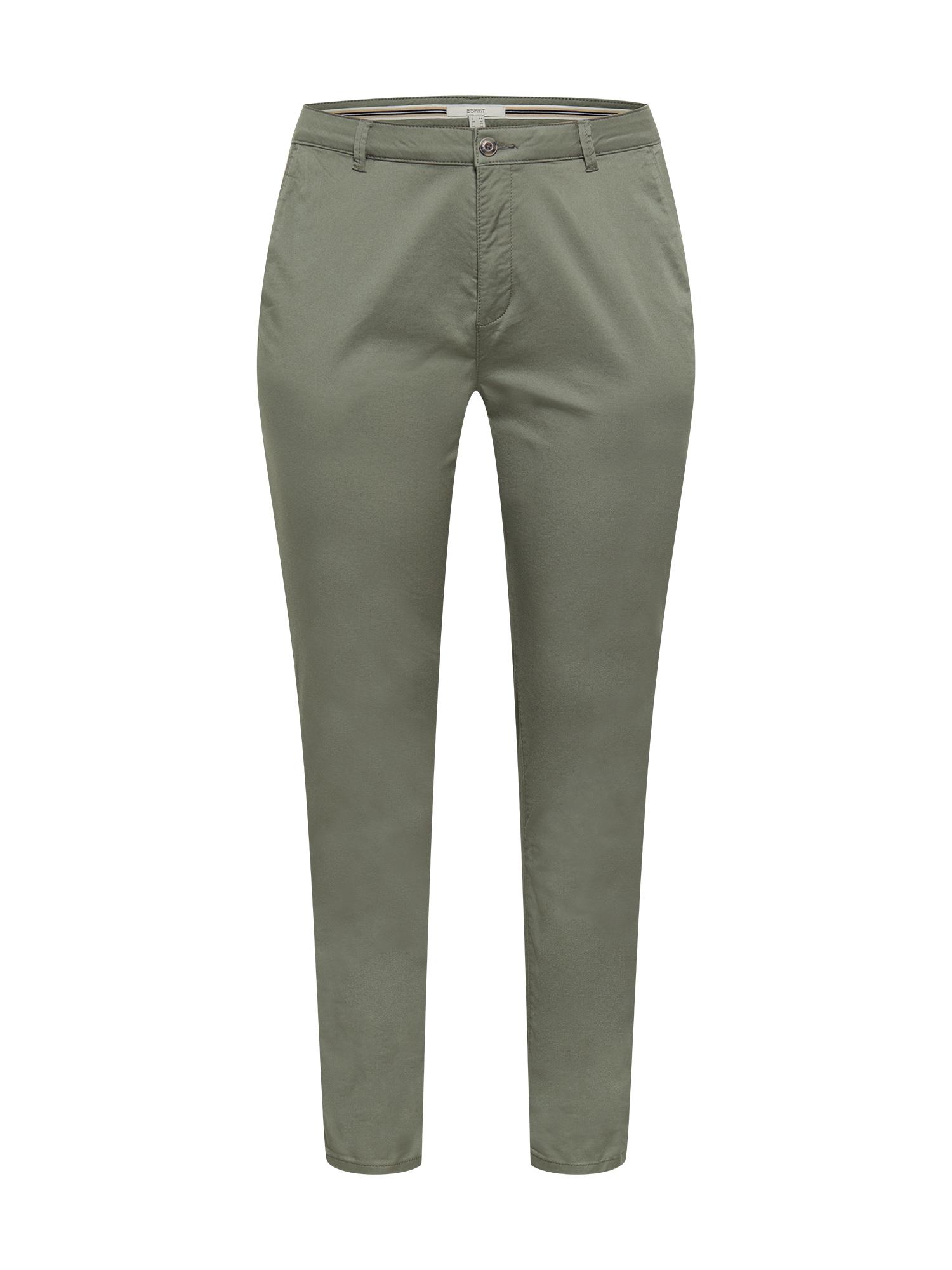 """Esprit Curves """"Chino"""" stiliaus kelnės rusvai žalia"""