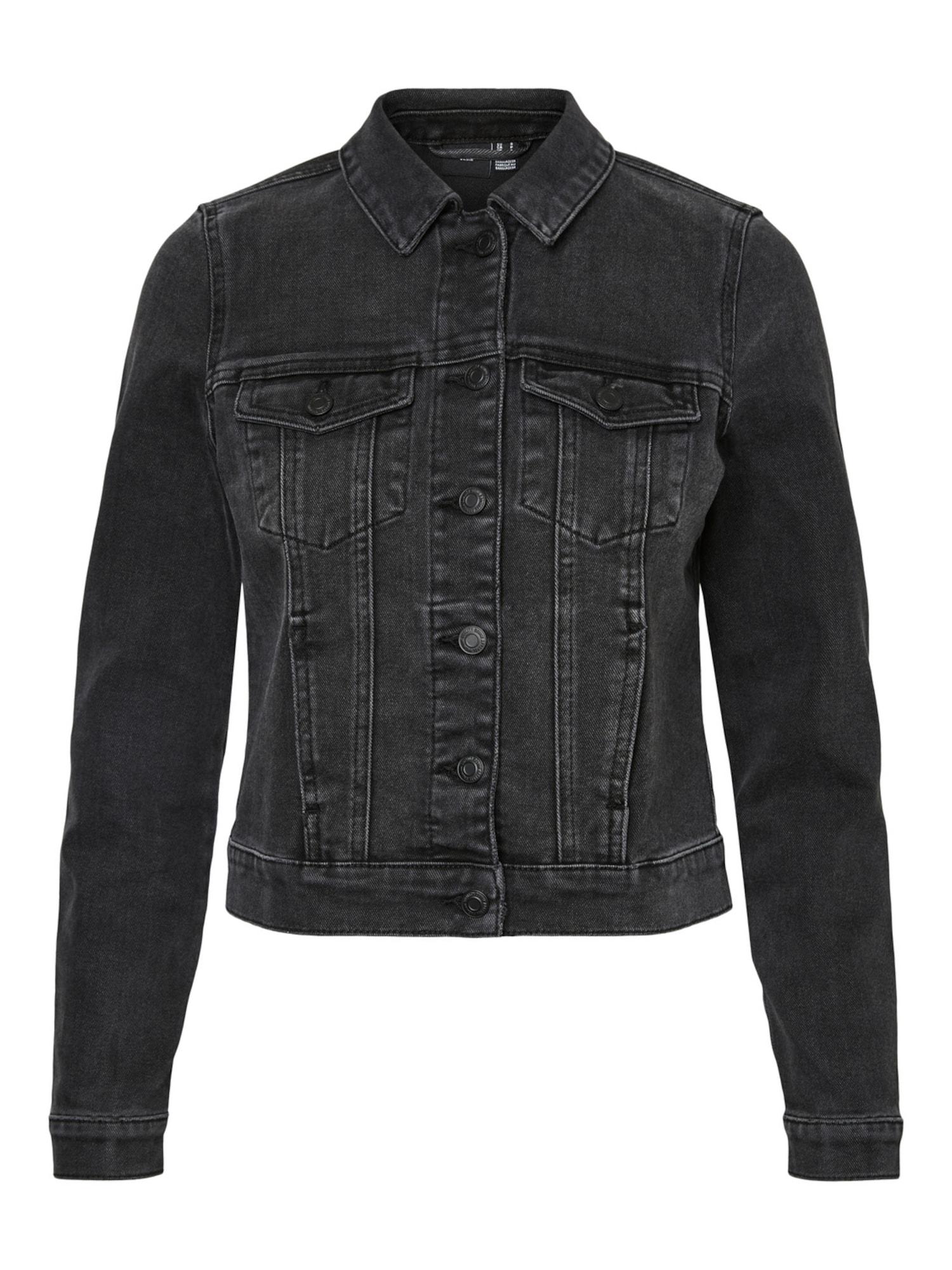 VERO MODA Demisezoninė striukė 'Faith' juodo džinso spalva