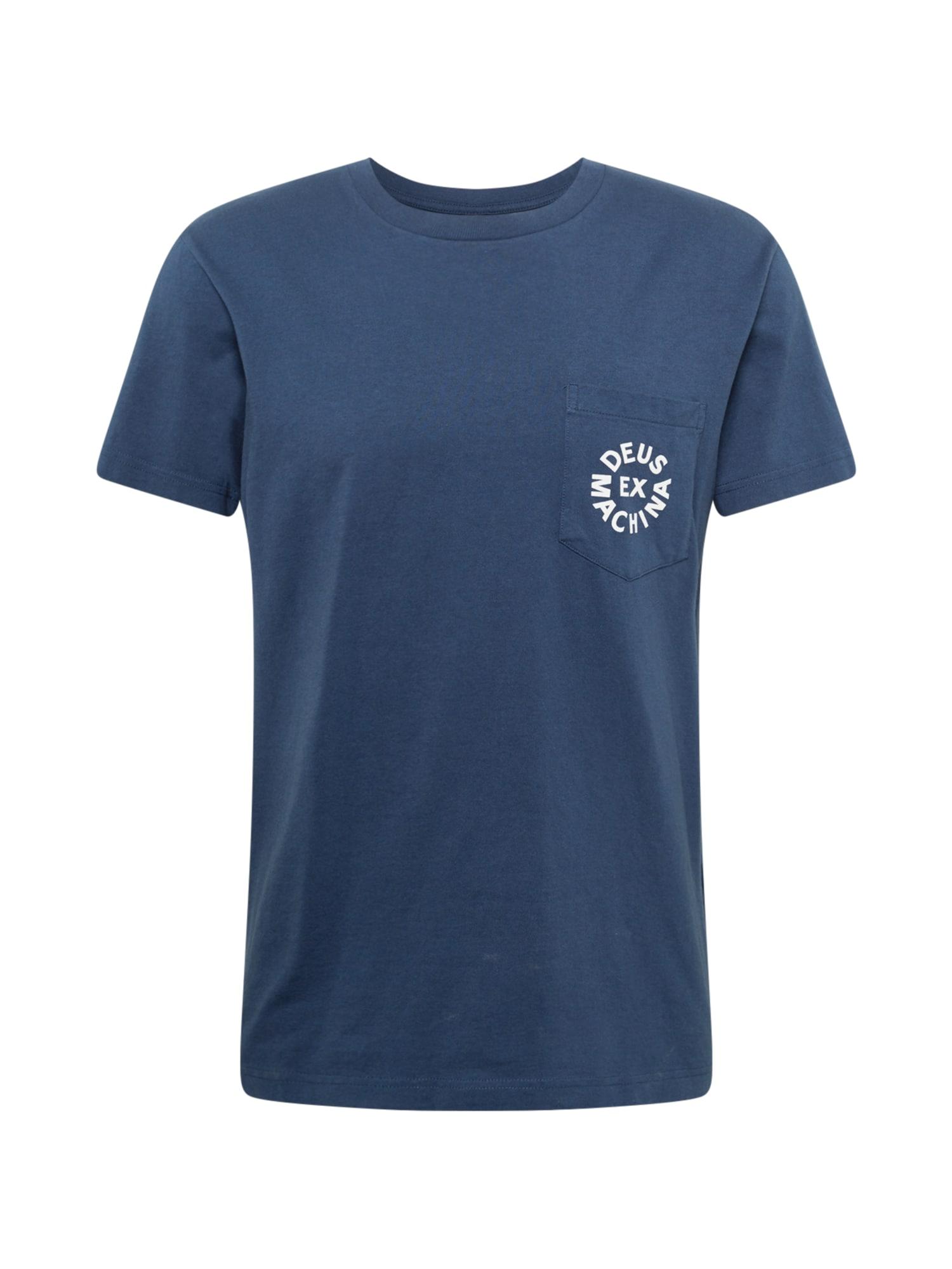 DEUS EX MACHINA Marškinėliai tamsiai mėlyna / balta