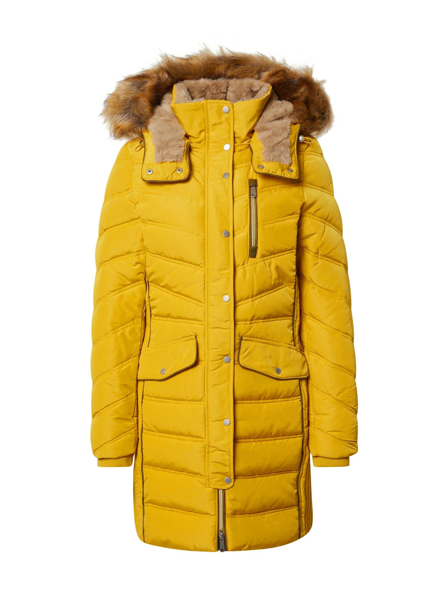 TOM TAILOR Zimní kabát  žlutá