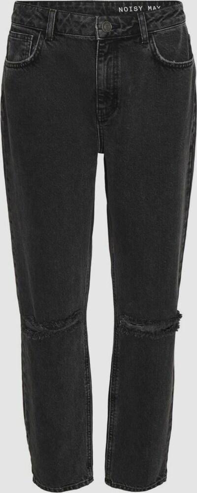 - High Waist - Konische Tapered Leg-Beinform - Mom-Jeans - Five-Pocket-Style  - Reißverschluss und einzelner Knopfverschluss vorn - Destroyed Detail an den Knien  - Baumwollstoff ohne Stretch - Relaxed Fit