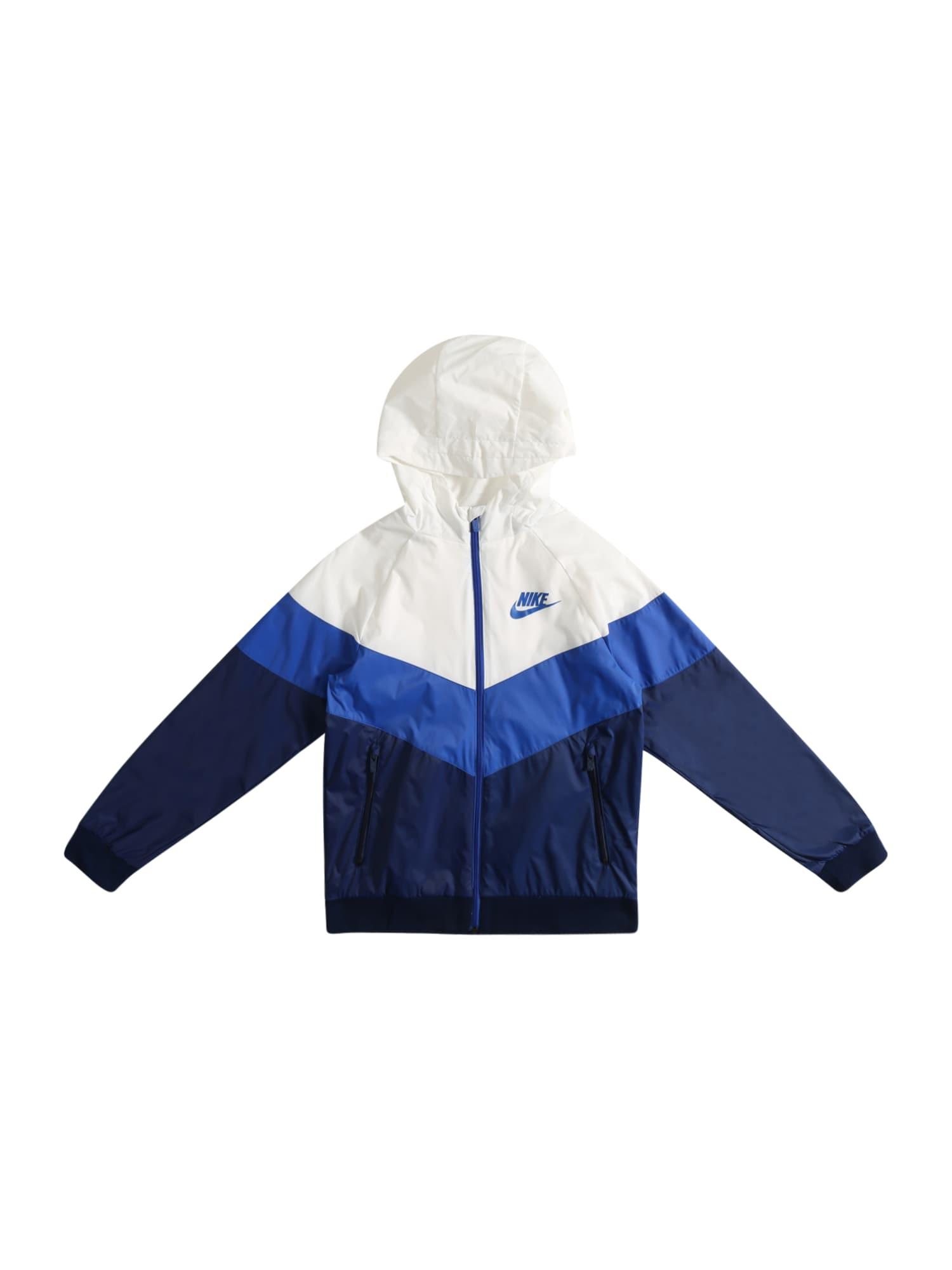 """Nike Sportswear Demisezoninė striukė balta / tamsiai mėlyna / sodri mėlyna (""""karališka"""")"""