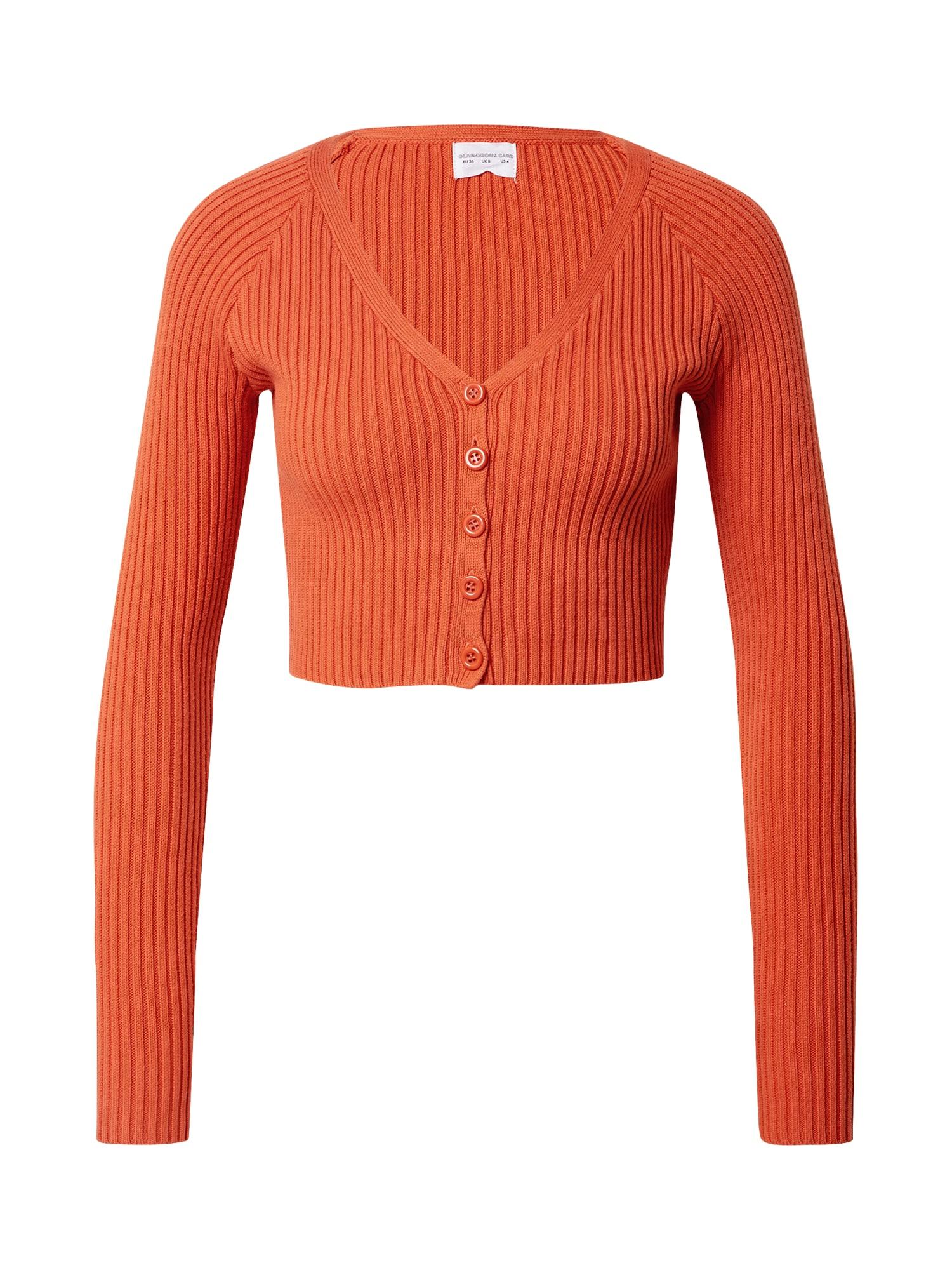 GLAMOROUS Kardiganas oranžinė-raudona