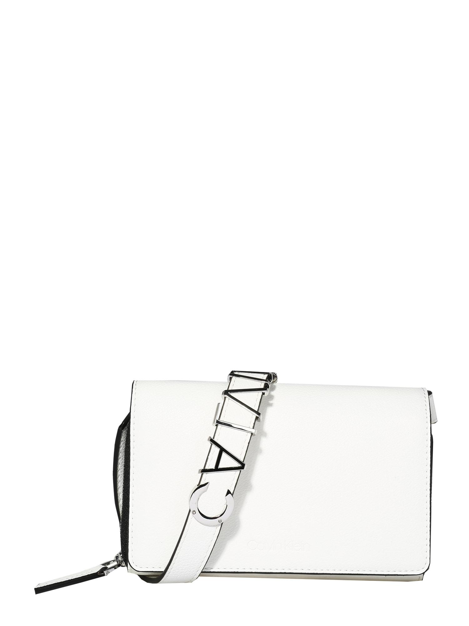 Calvin Klein Peněženka 'WALLET MINI BAG'  bílá