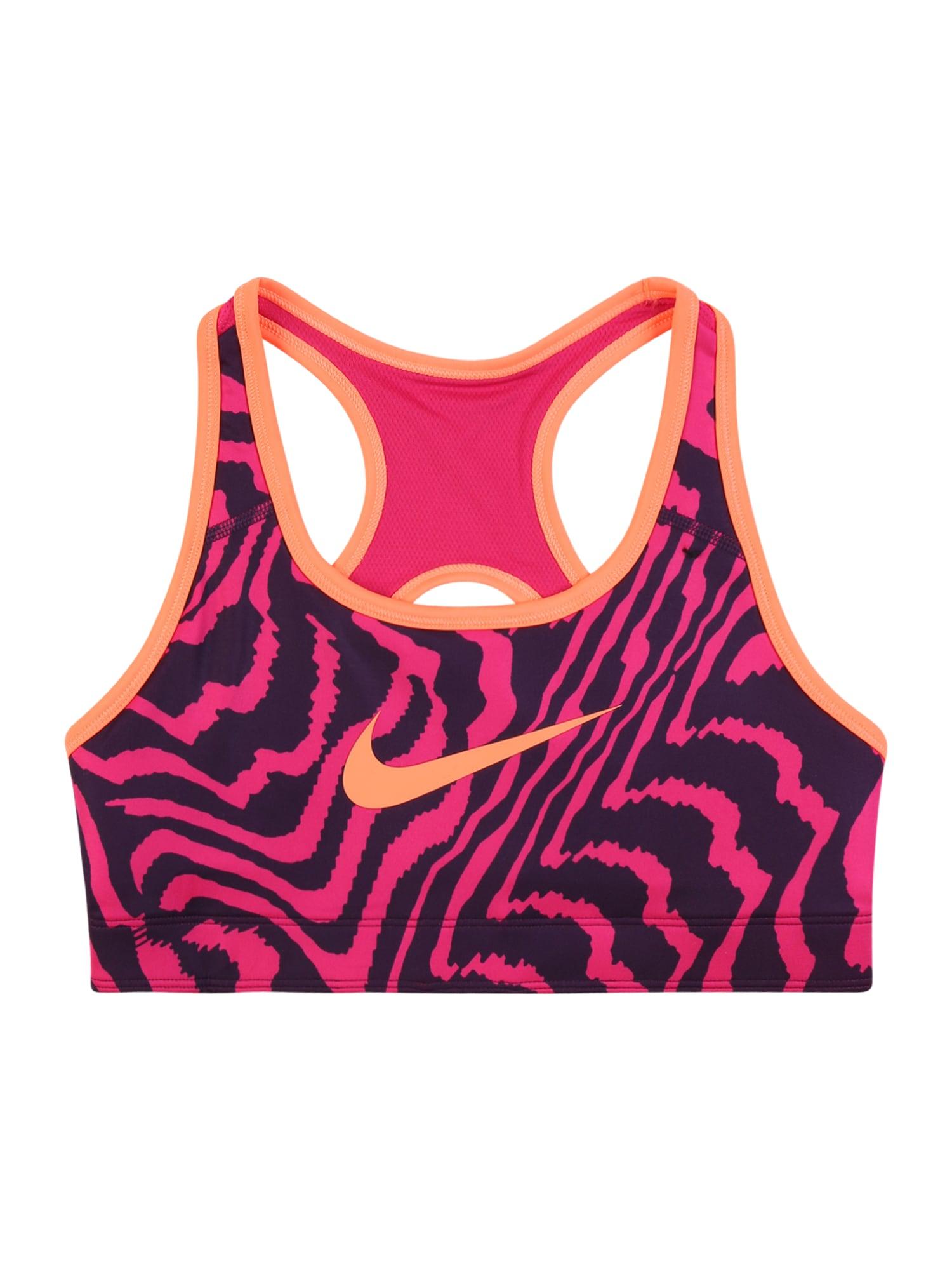 NIKE Sportinio stiliaus apatiniai drabužiai rožinė / tamsiai mėlyna / persikų spalva