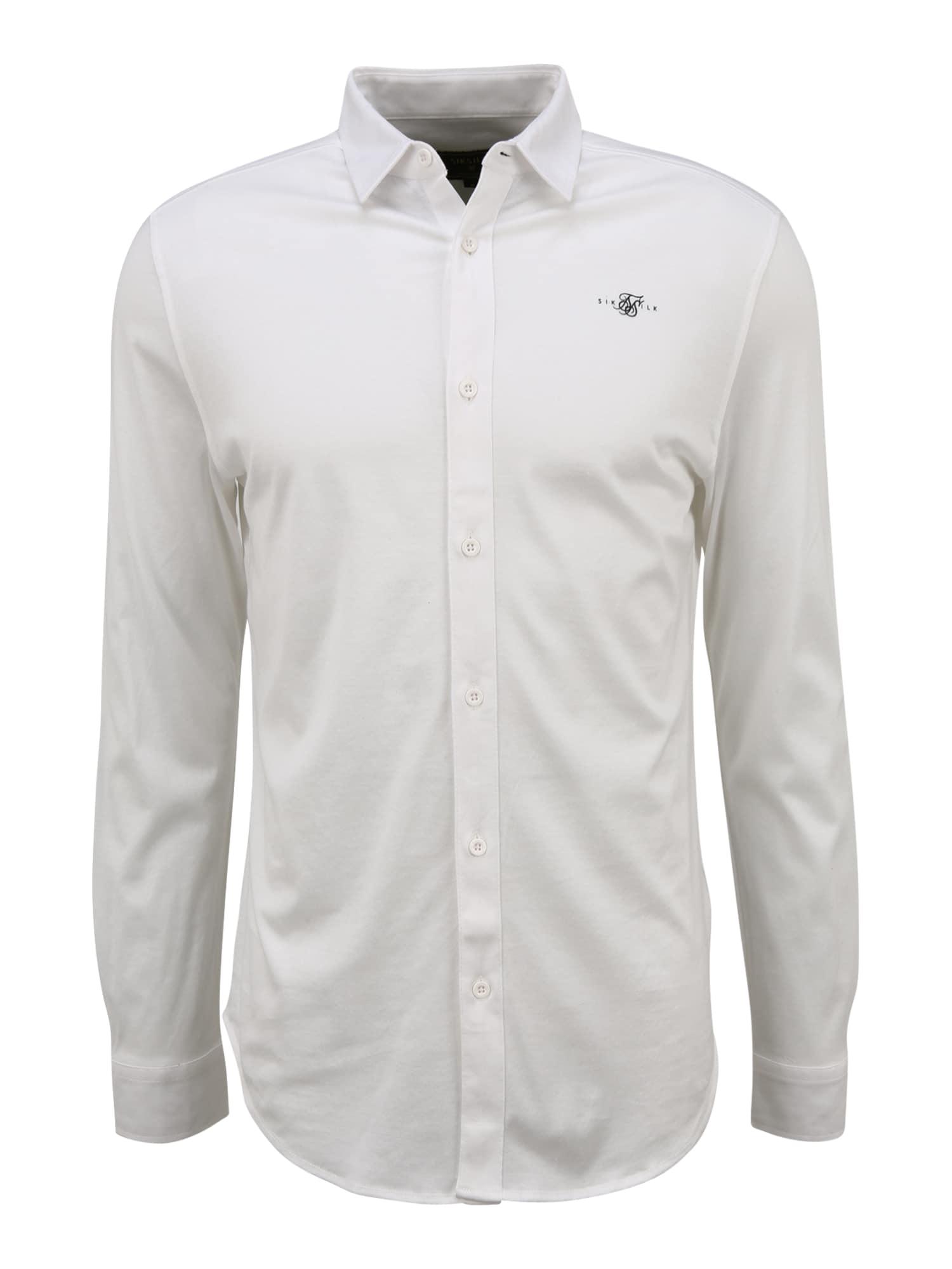 SikSilk Marškiniai balta / juoda
