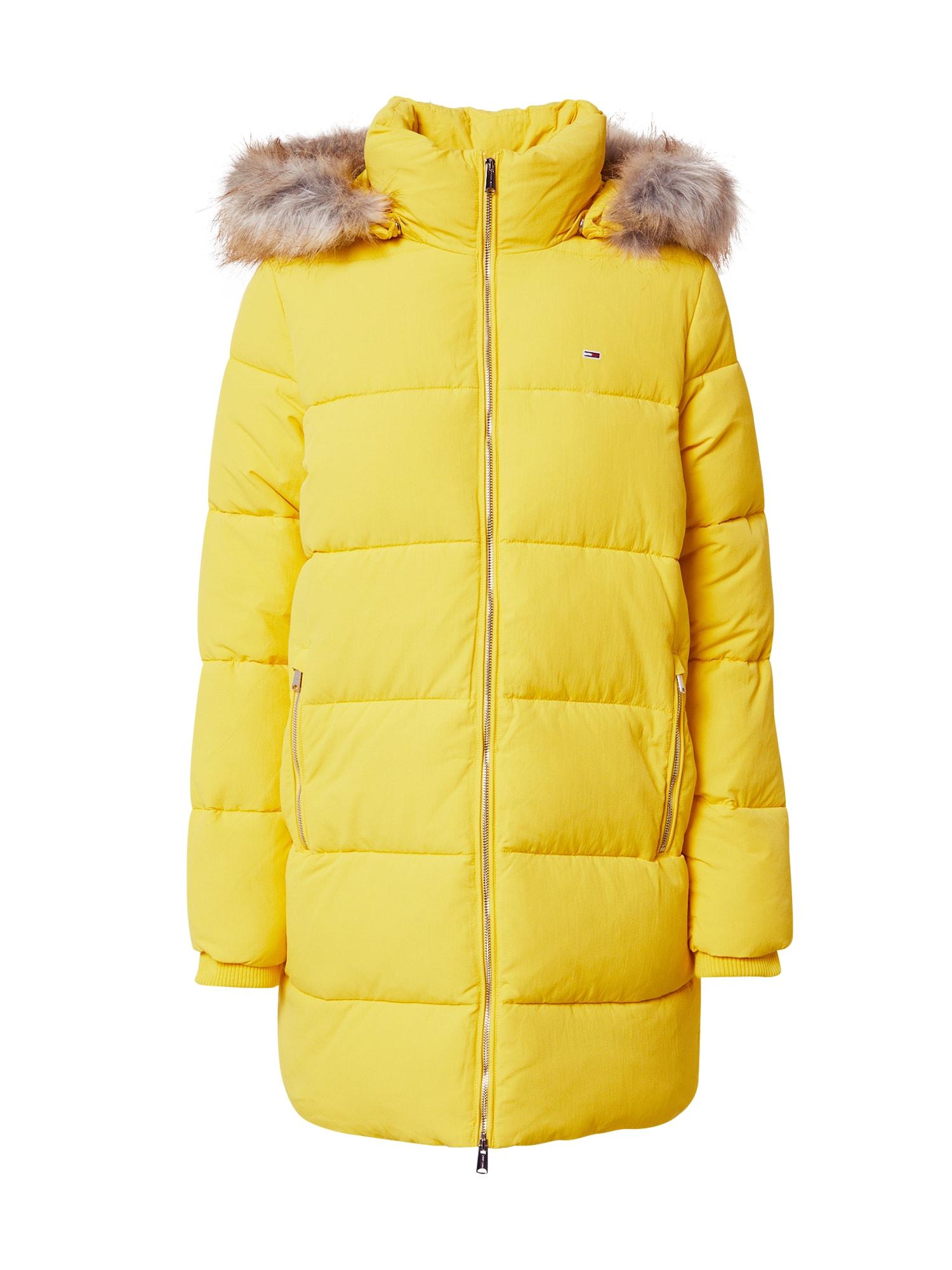 Tommy Jeans Zimní kabát 'Modern Puffa'  žlutá