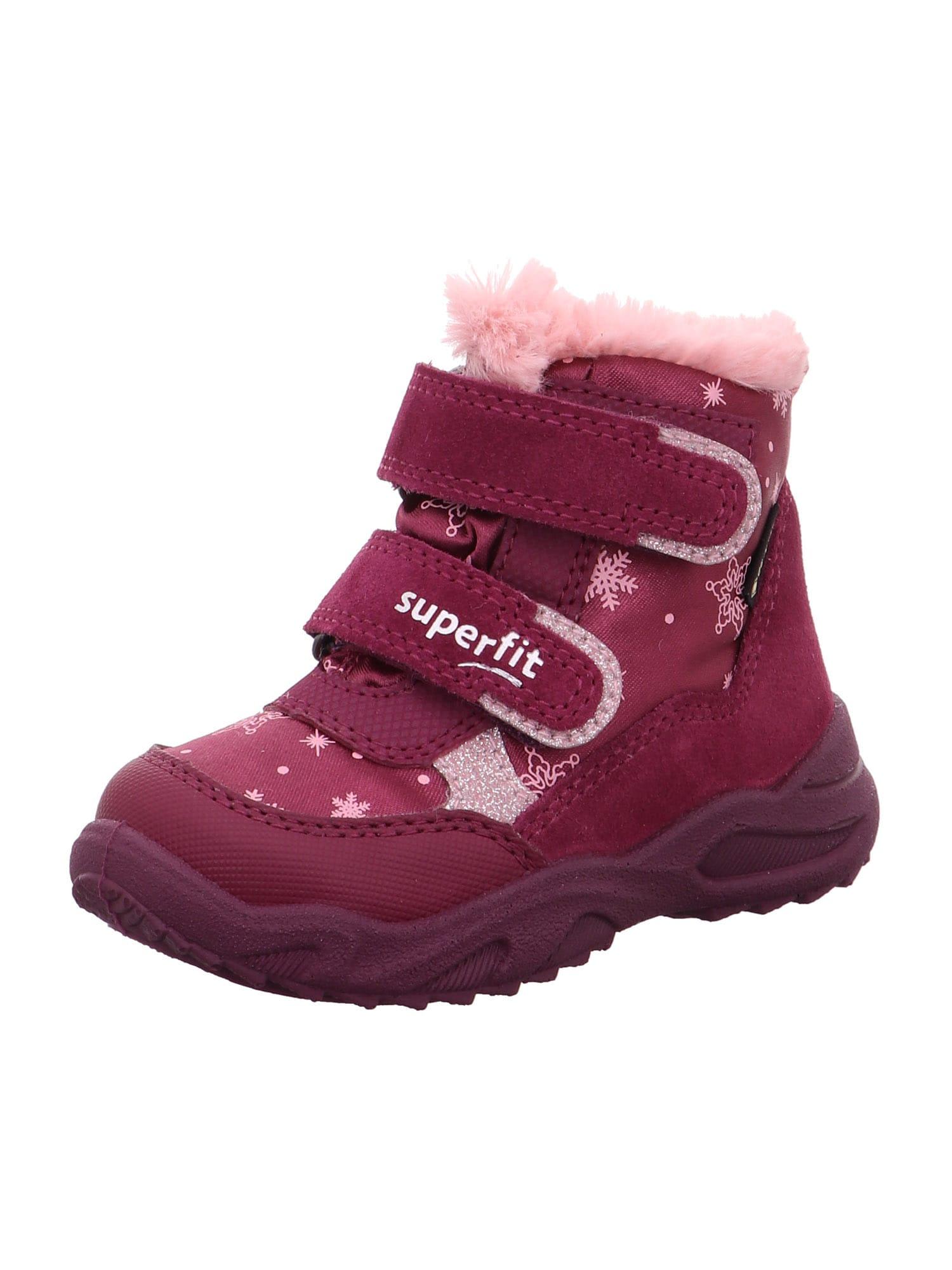 SUPERFIT Sniego batai 'GLACIER' rožių spalva / raudona