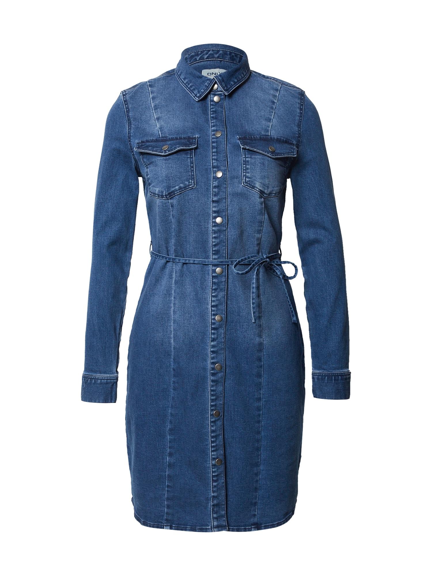 ONLY Košilové šaty 'Mette Life'  modrá