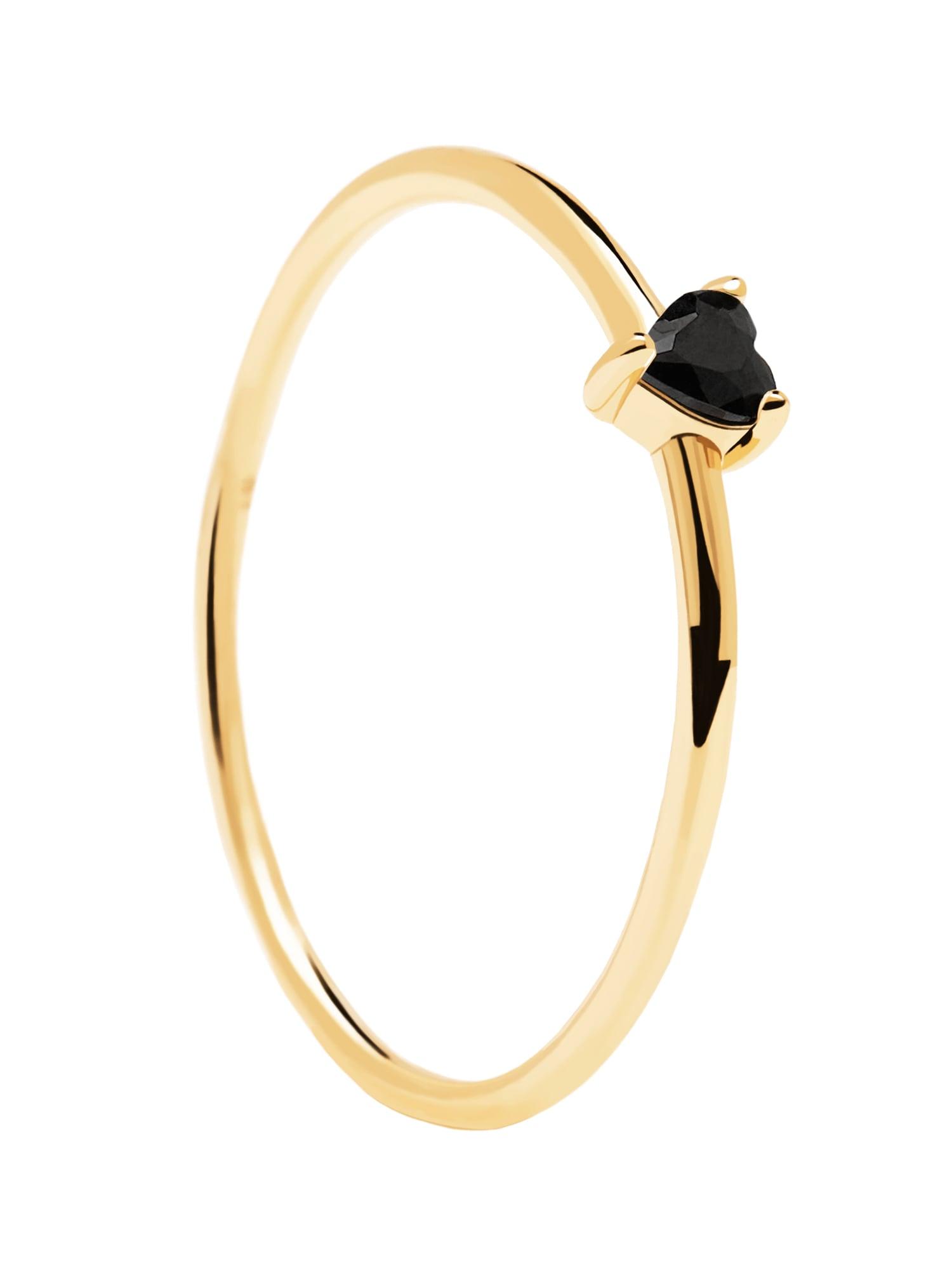 P D PAOLA Žiedas auksas / juoda