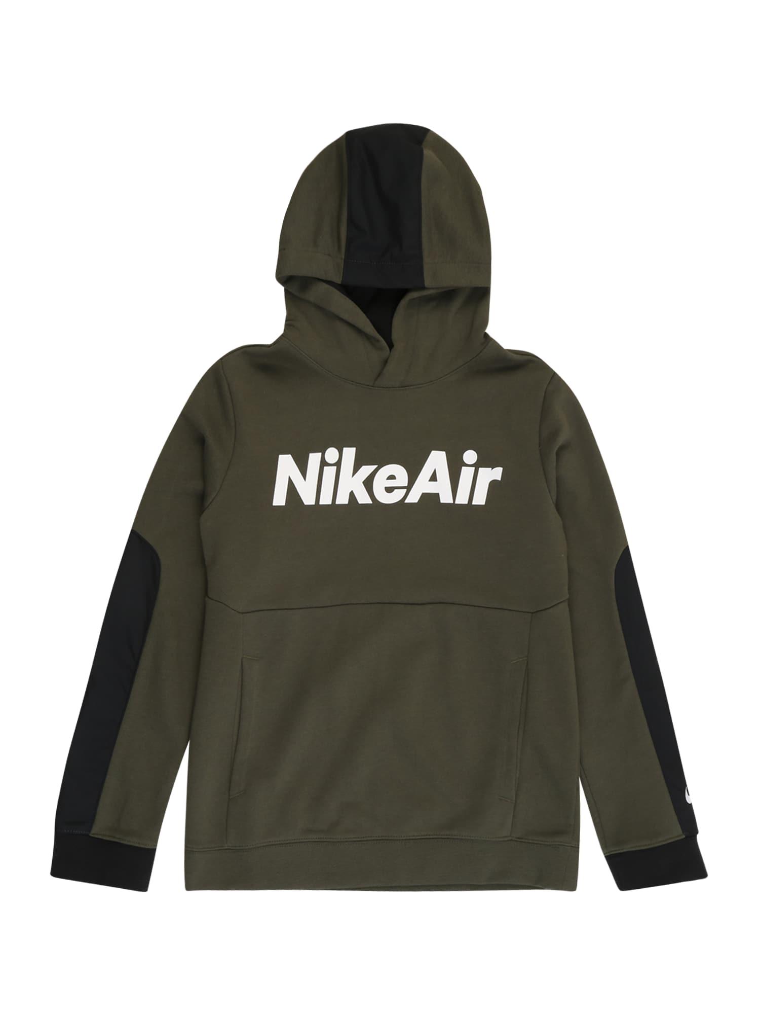 Nike Sportswear Mikina  bílá / khaki / černá
