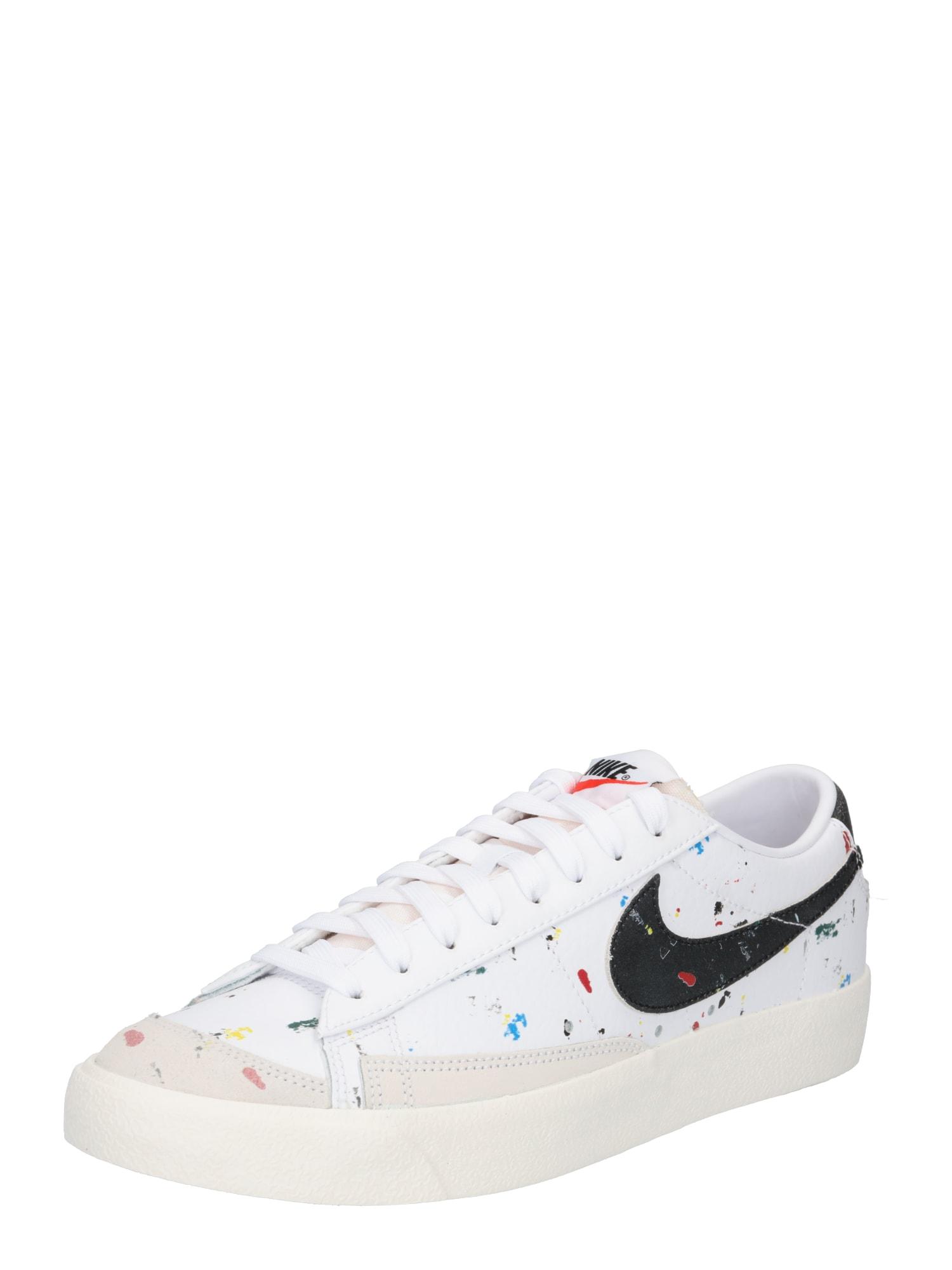 Nike Sportswear Tenisky  bílá / černá / světle šedá / královská modrá / ohnivá červená