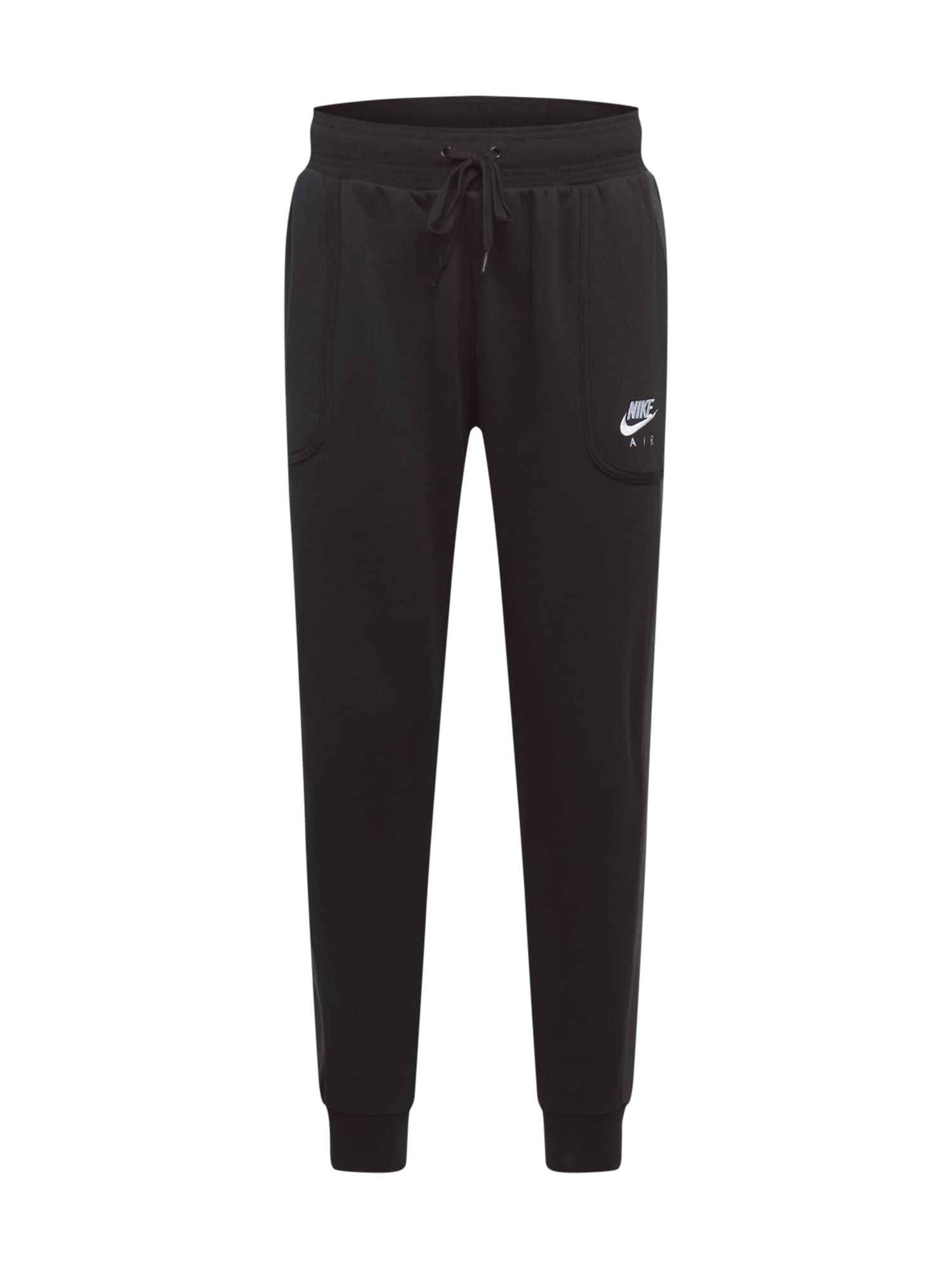 Nike Sportswear Kelnės juoda / balta / tamsiai pilka
