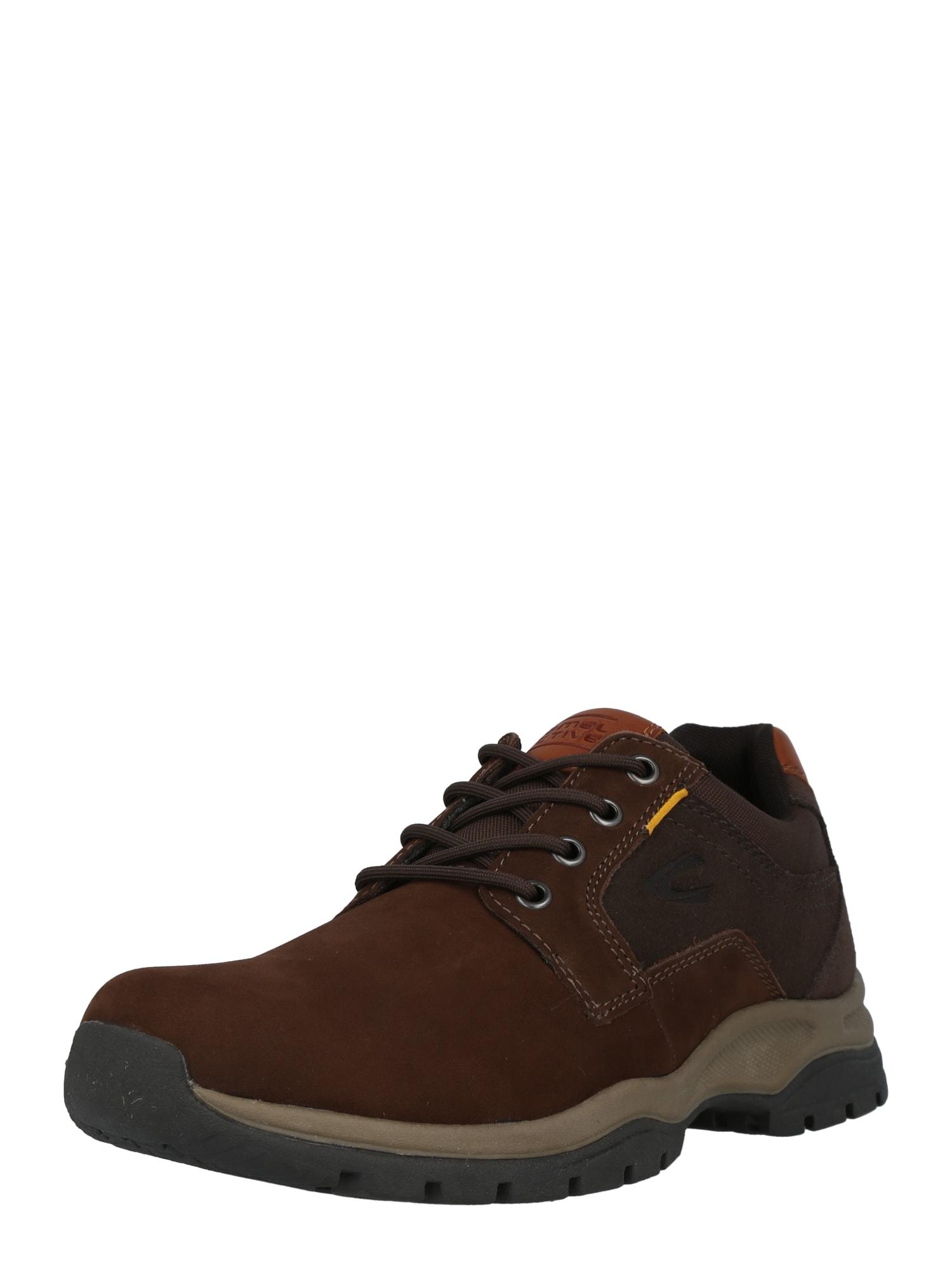 CAMEL ACTIVE Sportovní šněrovací boty 'Bud'  tmavě hnědá / okrová / karamelová
