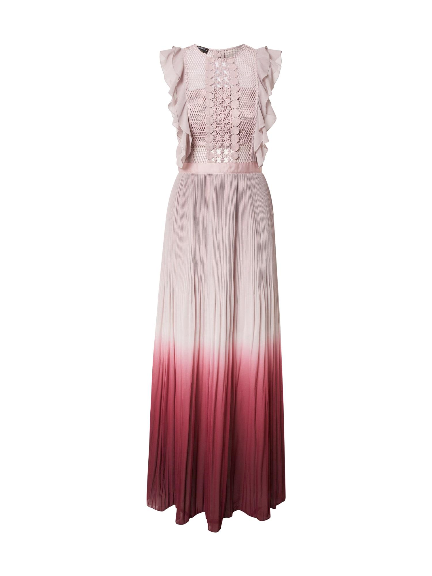APART Vakarinė suknelė vyšninė spalva / rausvai violetinė spalva