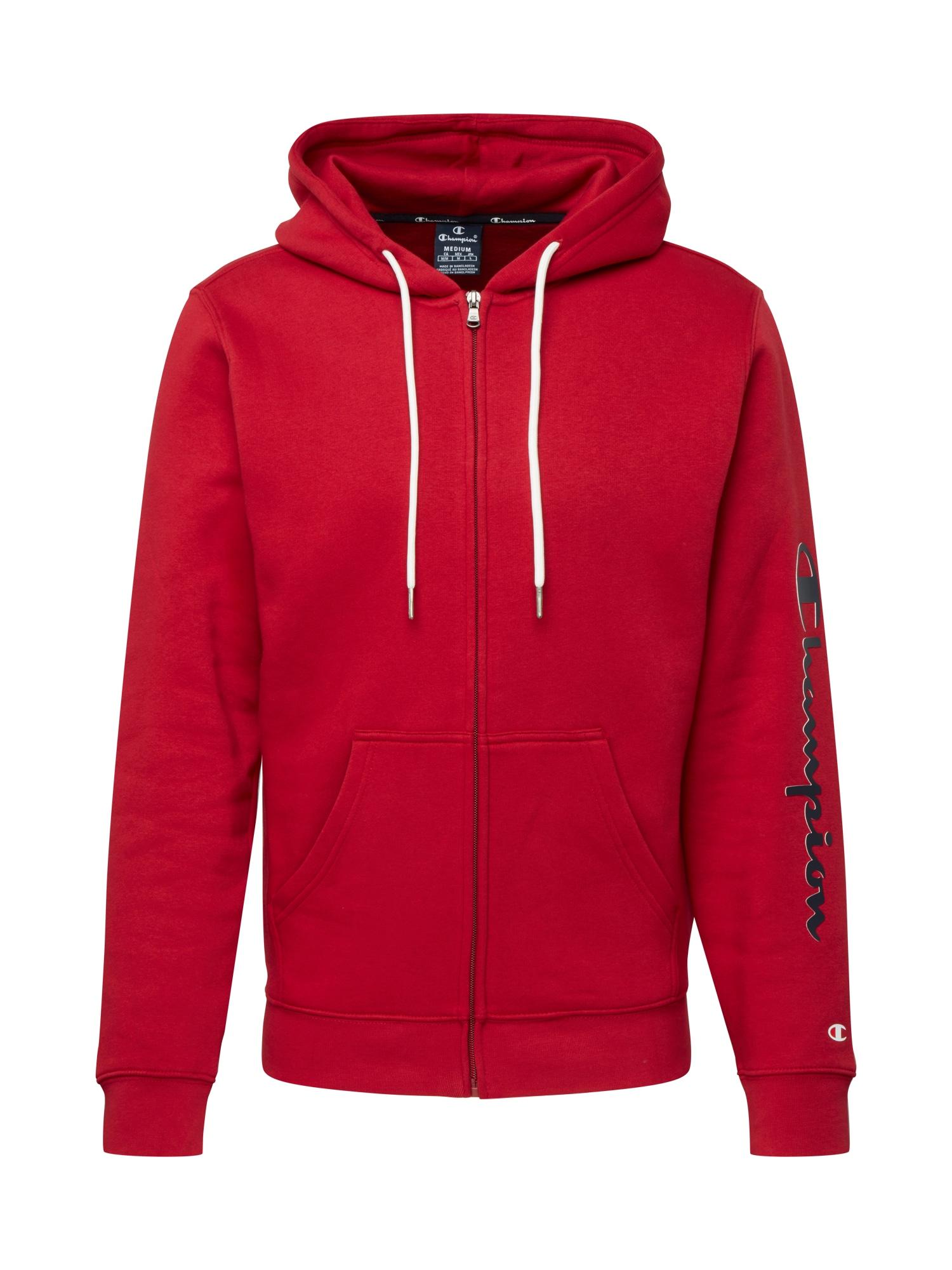 Champion Authentic Athletic Apparel Mikina s kapucí  tmavě červená / noční modrá