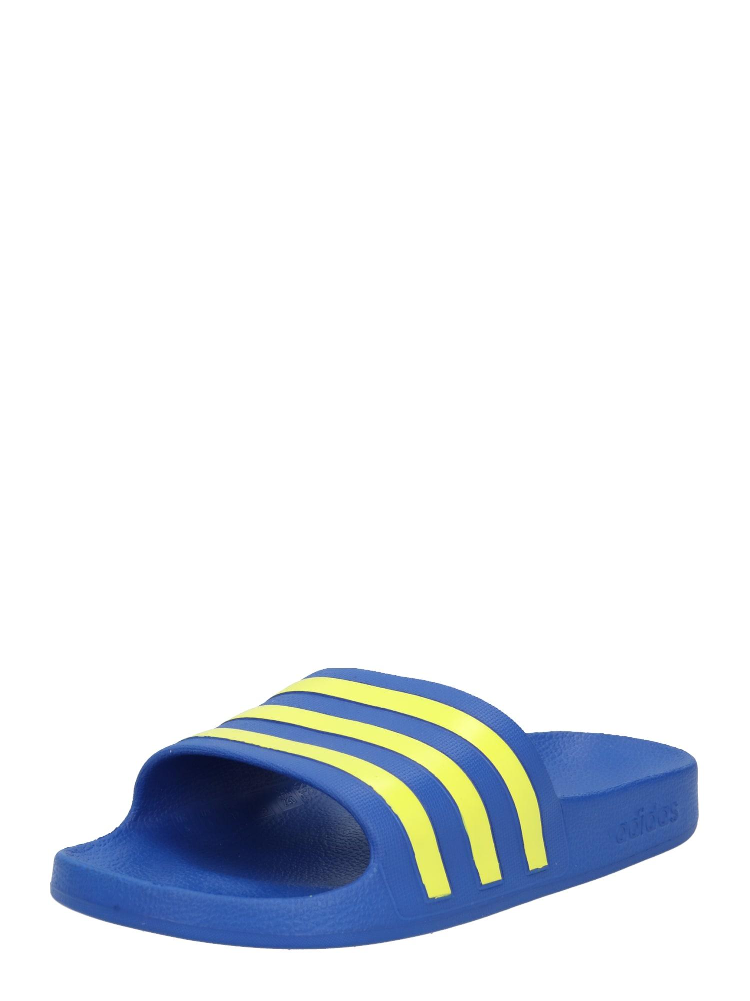 ADIDAS PERFORMANCE Sandalai / maudymosi batai mėlyna / geltona