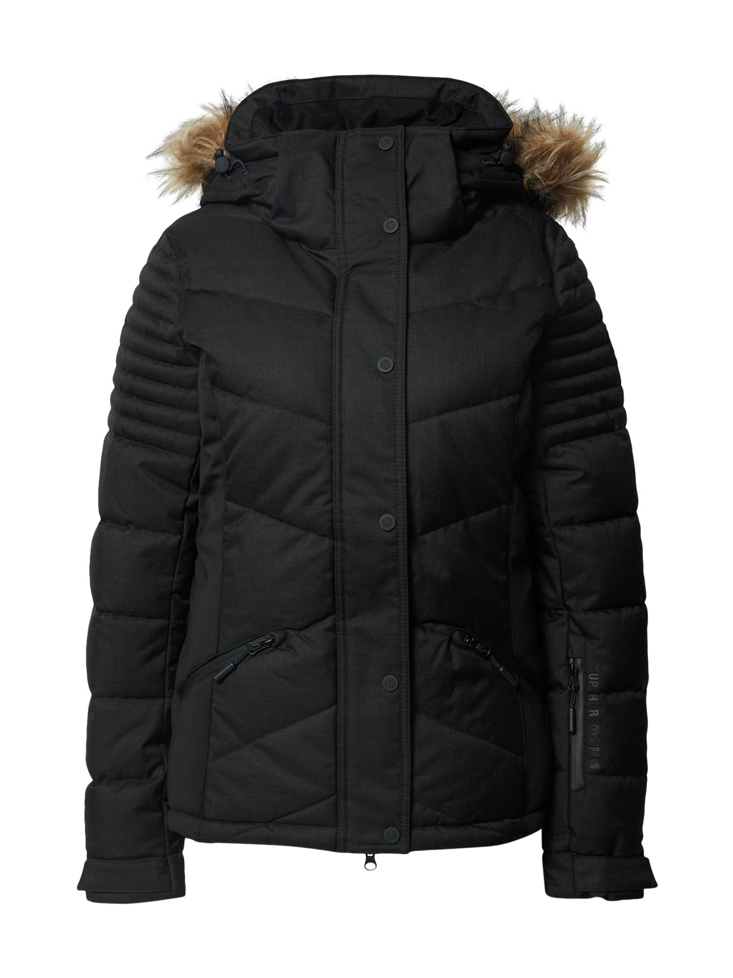 Superdry Snow Sportovní bunda 'Luxe'  černá