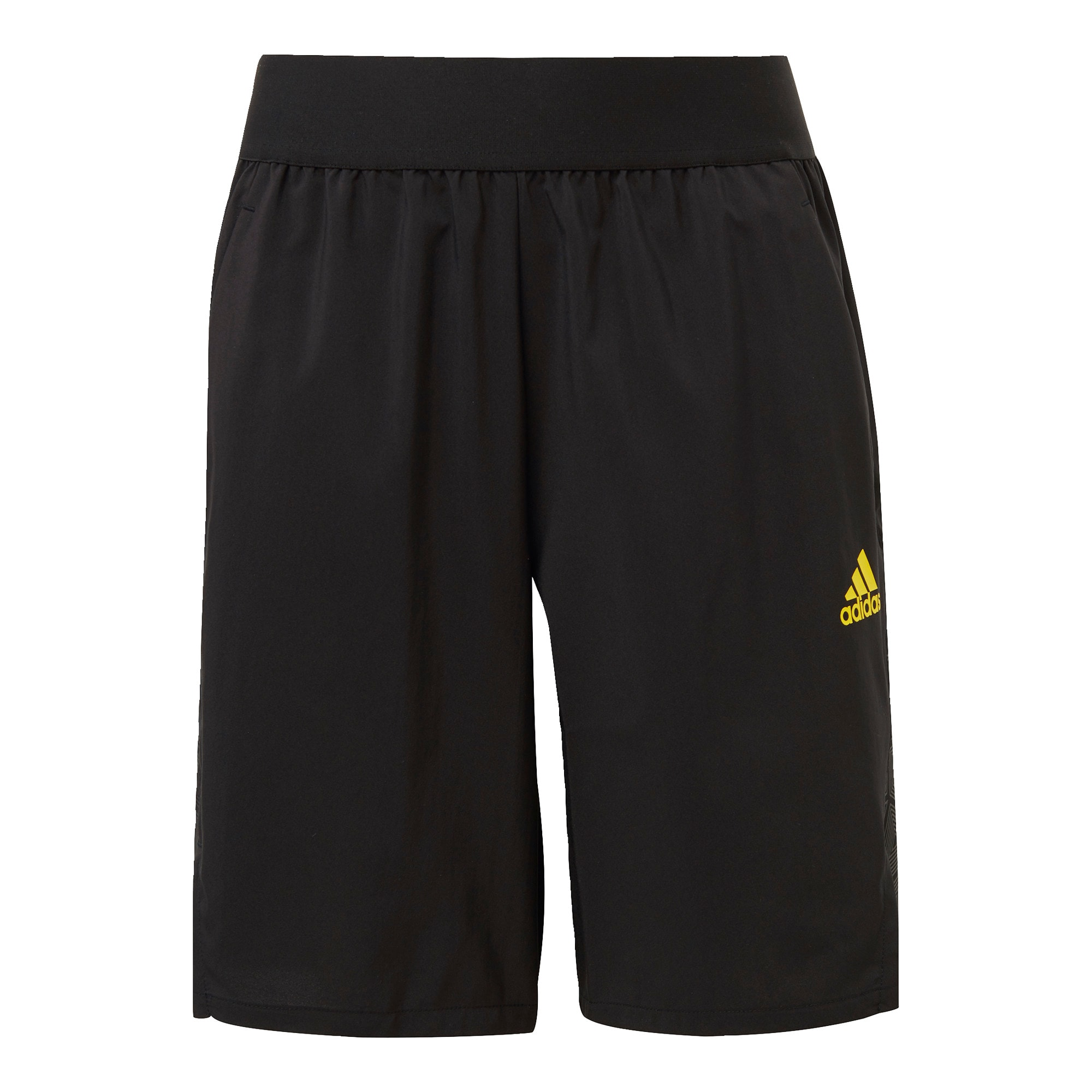 ADIDAS PERFORMANCE Sportinės kelnės 'Predator' juoda / geltona / pilka