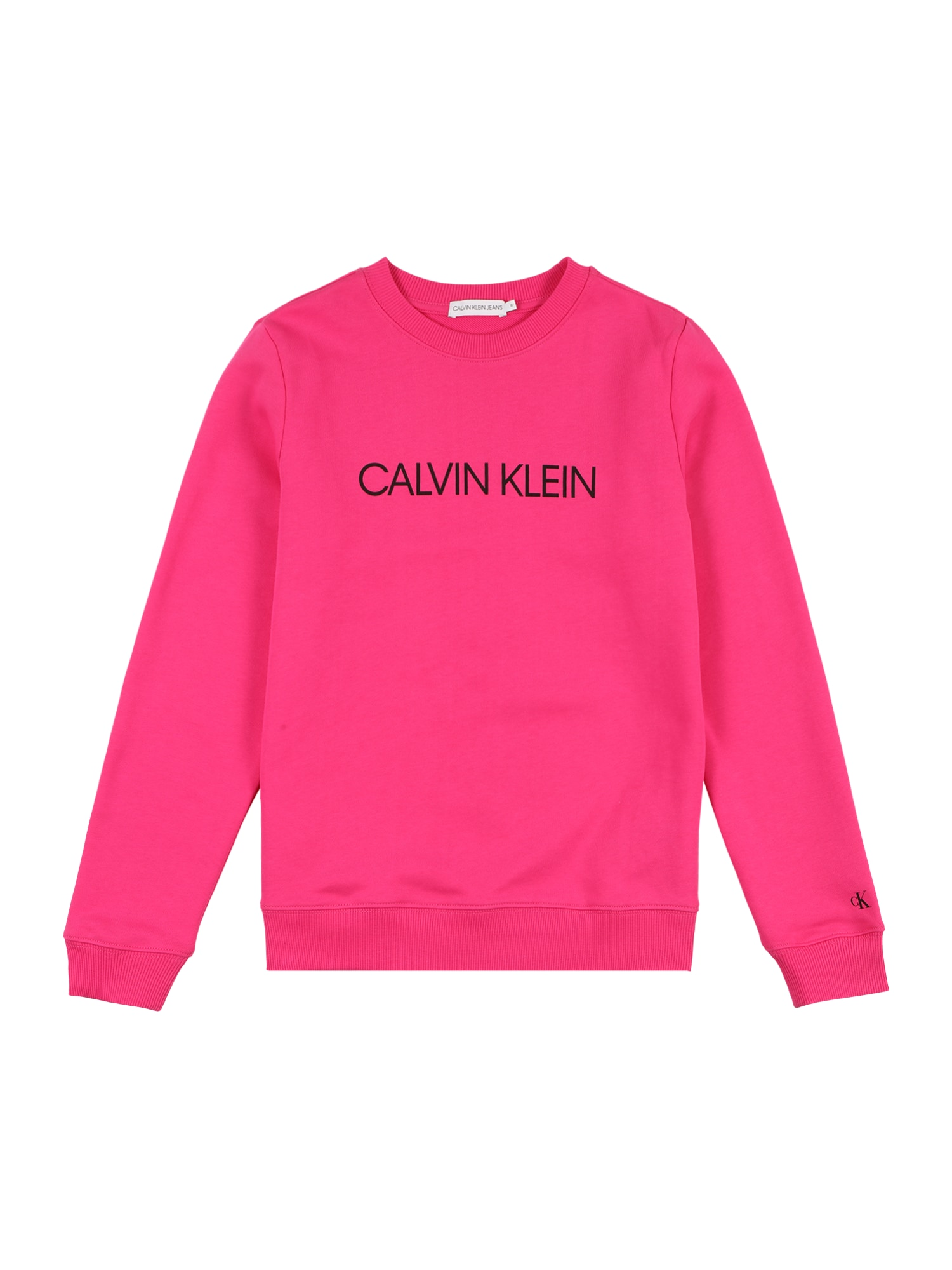 Calvin Klein Jeans Megztinis be užsegimo rausvai raudona / juoda