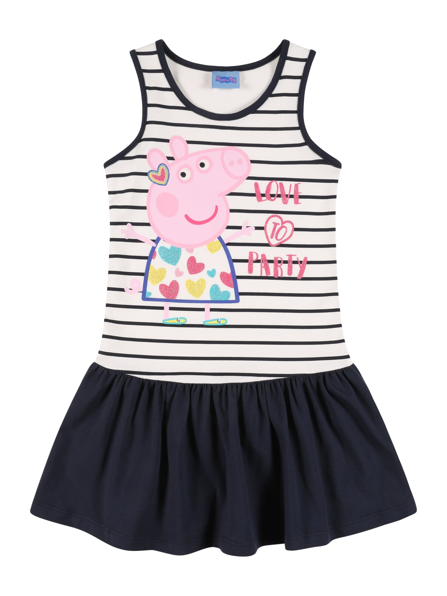 Peppa Pig Suknelė tamsiai mėlyna / balta / rožių spalva / mišrios spalvos