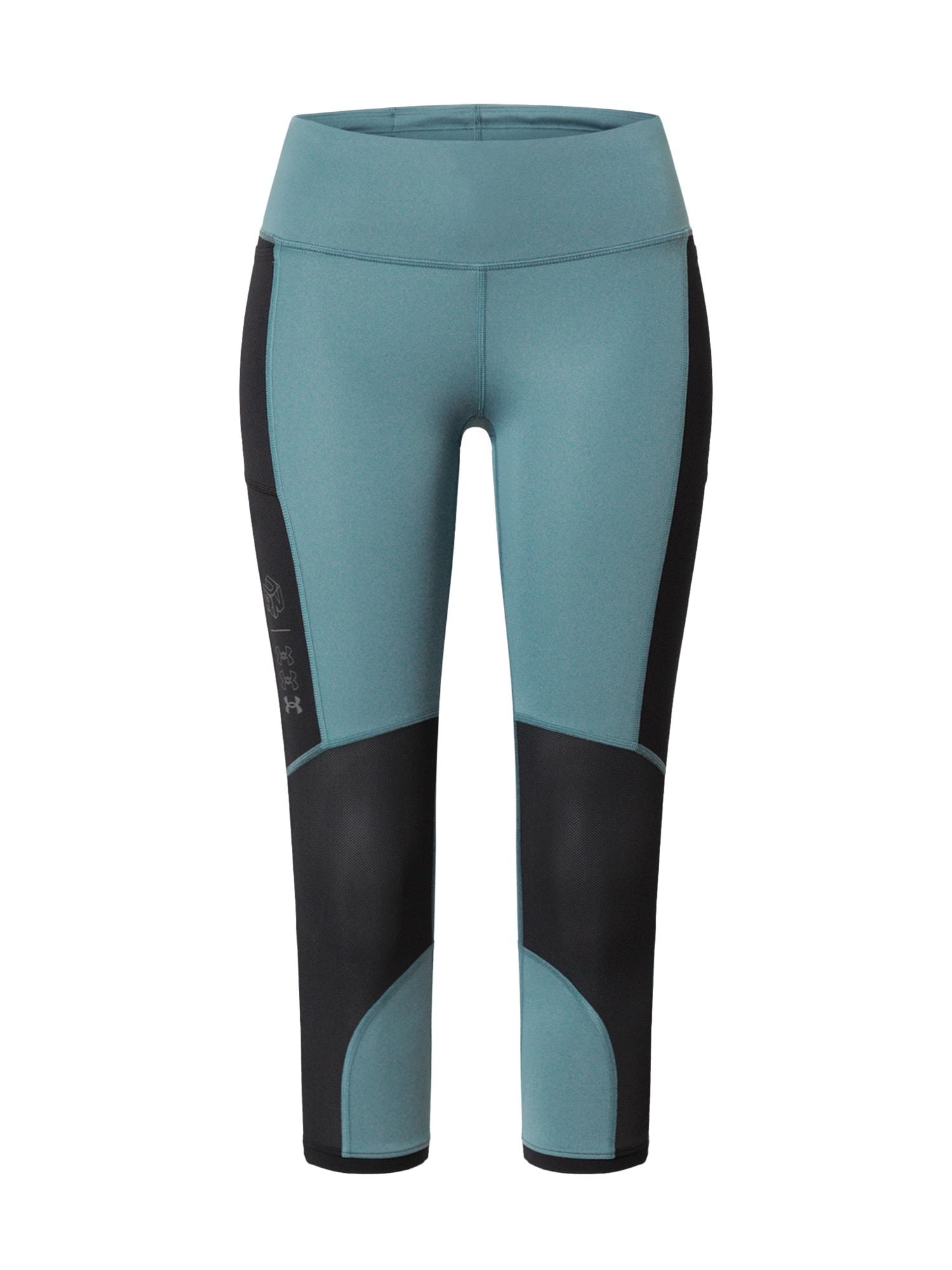 UNDER ARMOUR Sportovní kalhoty 'Run Anywhere'  černá / modrá