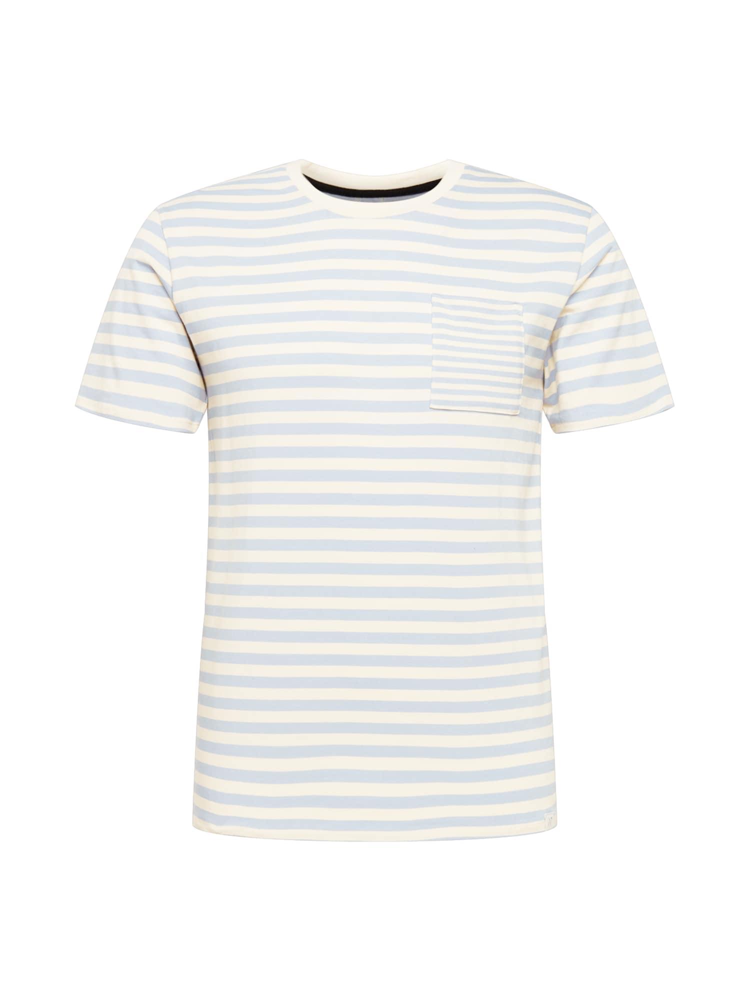 NOWADAYS Marškinėliai šviesiai mėlyna / balta