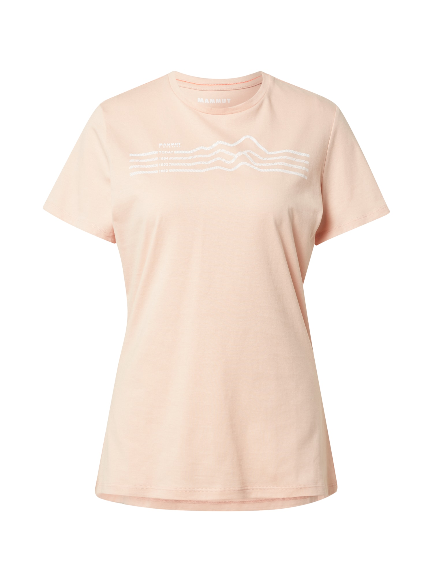 MAMMUT Sportiniai marškinėliai kūno spalva / balta