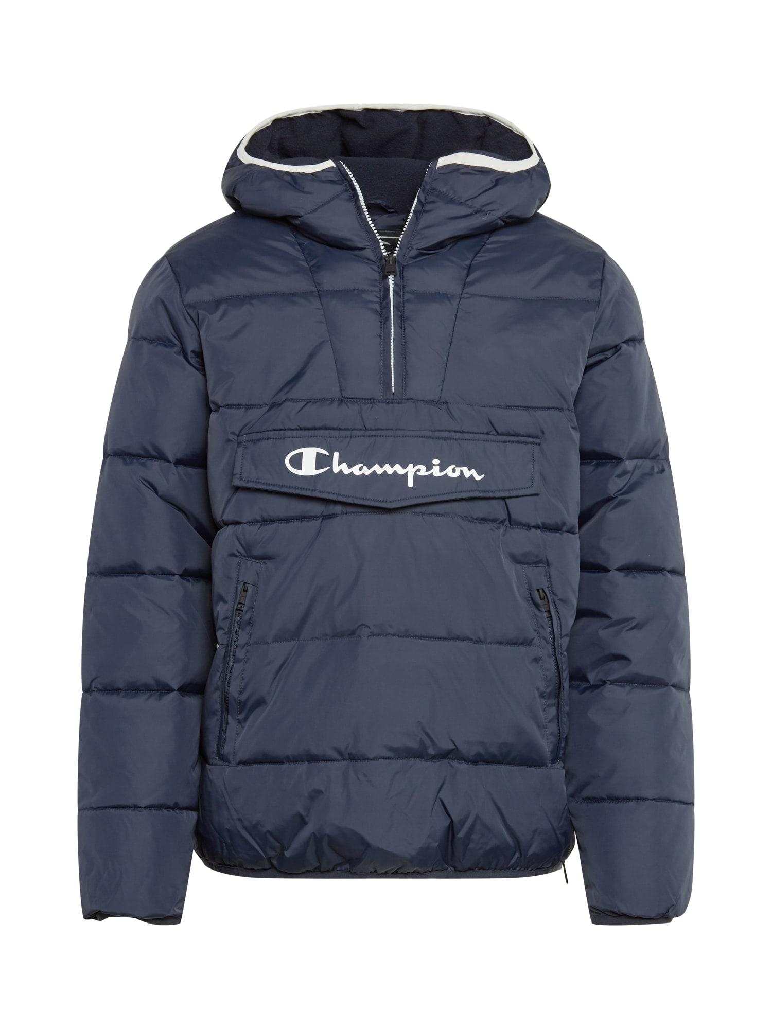 Champion Authentic Athletic Apparel Zimní bunda 'Hooded Jacket'  námořnická modř