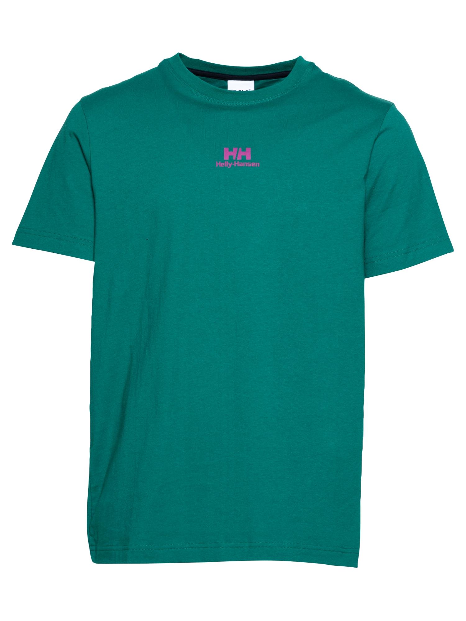 HELLY HANSEN Marškinėliai smaragdinė spalva / fuksijų spalva