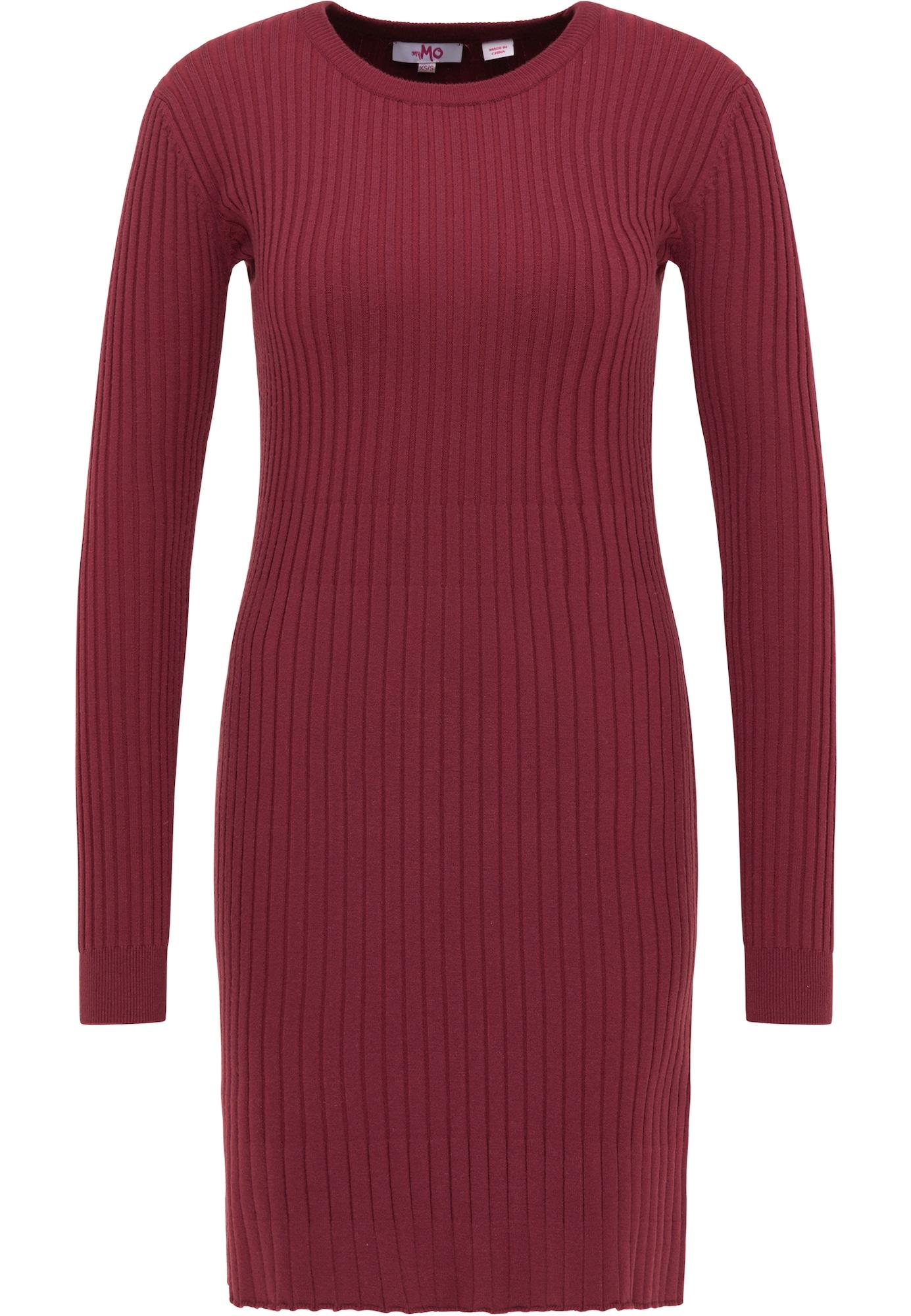 MYMO Megzta suknelė karmino raudona