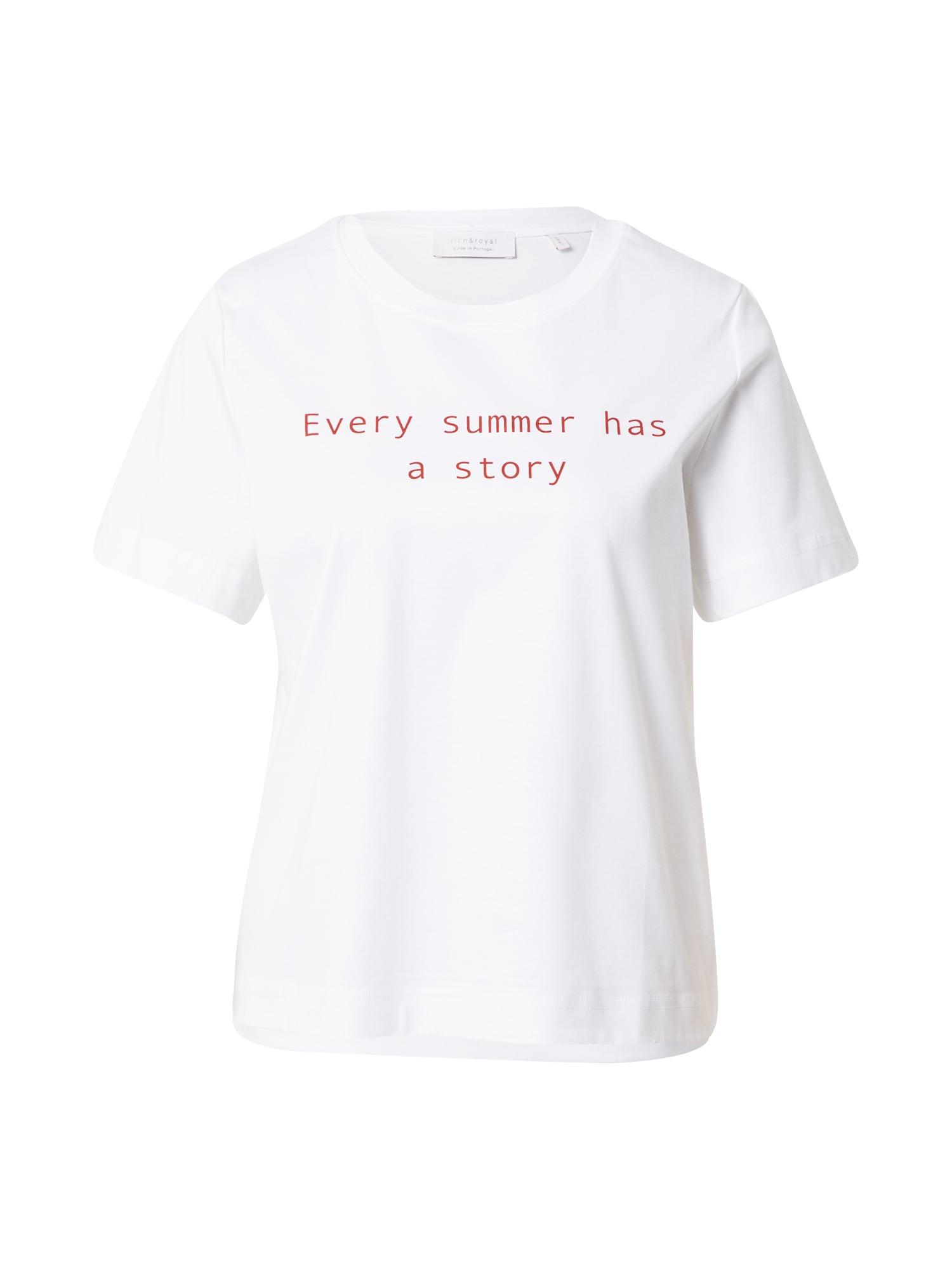 Rich & Royal Marškinėliai balta / raudona