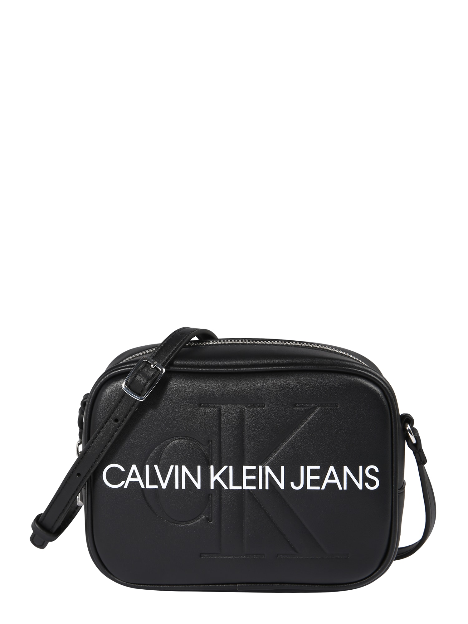 Calvin Klein Jeans Taška přes rameno  černá / bílá