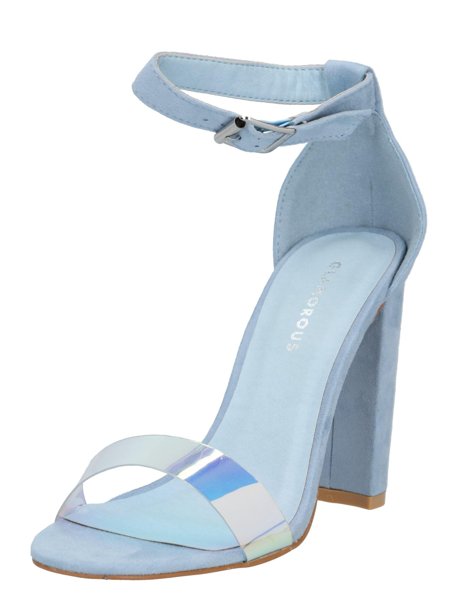 GLAMOROUS Páskové sandály 'FW4993'  světlemodrá