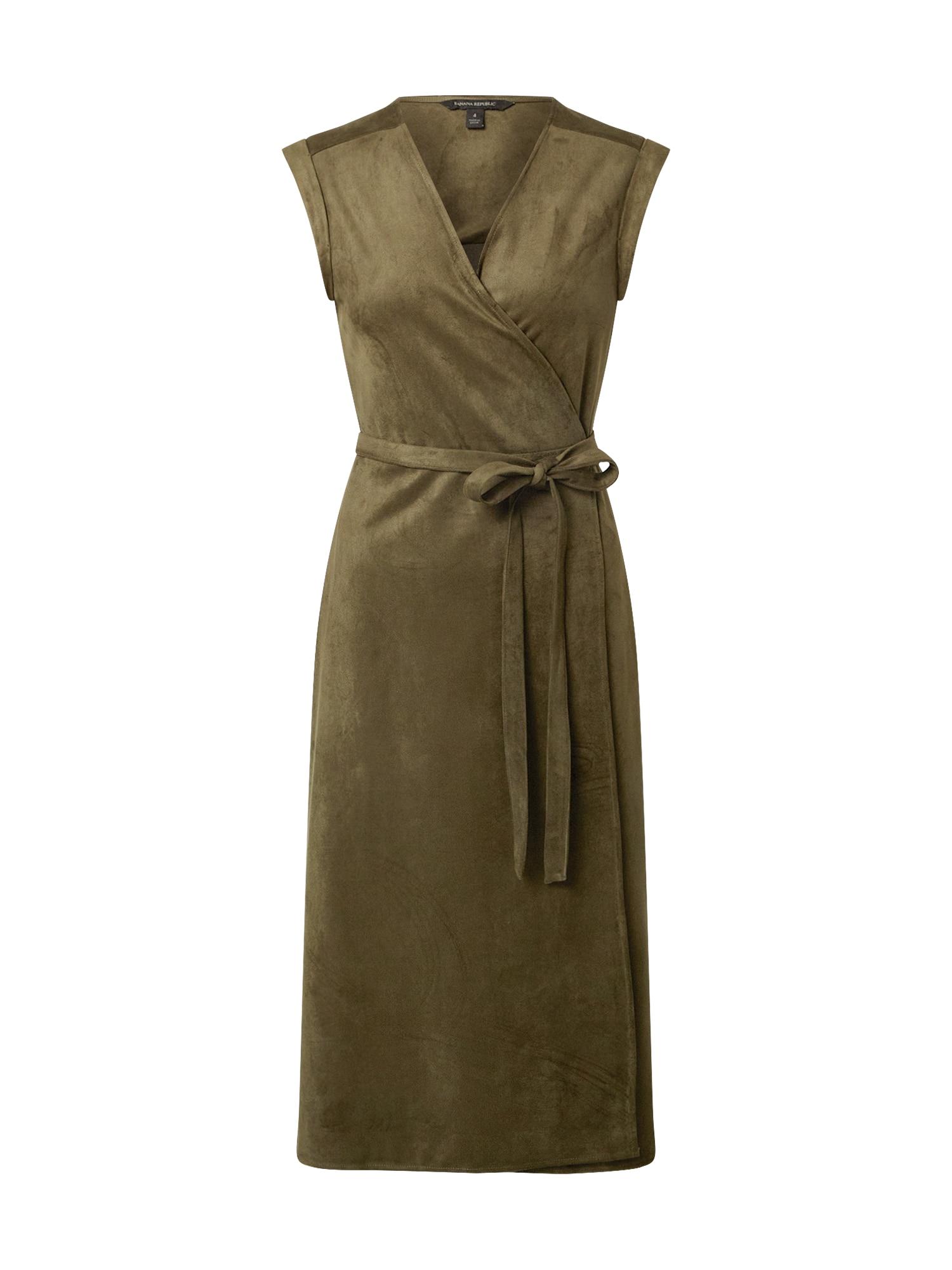 Banana Republic Suknelė rusvai žalia