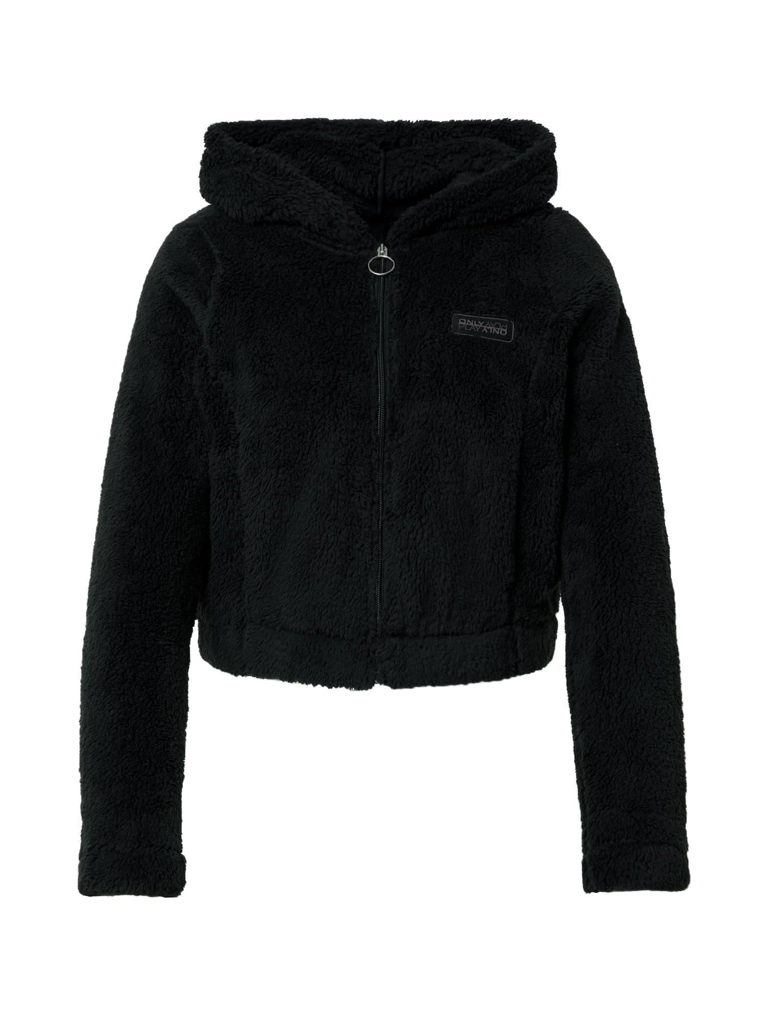ONLY PLAY Funkcinis flisinis džemperis juoda