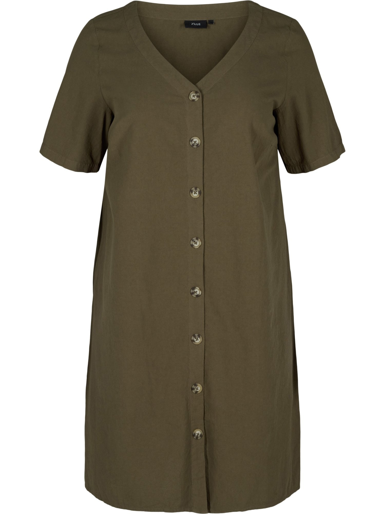Zizzi Košilové šaty 'Jeasy'  khaki