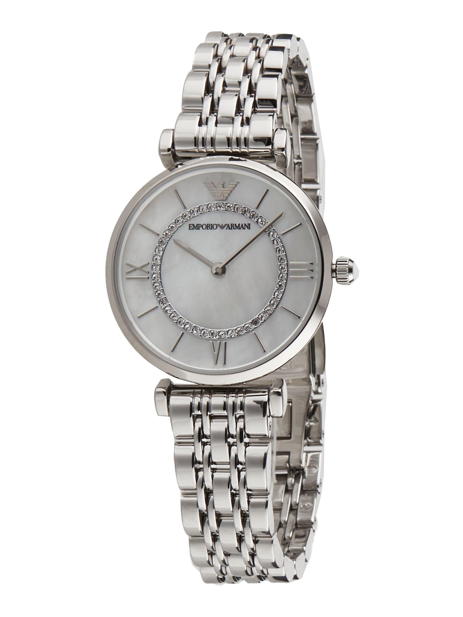 Emporio Armani Analoginis (įprasto dizaino) laikrodis sidabrinė / balta