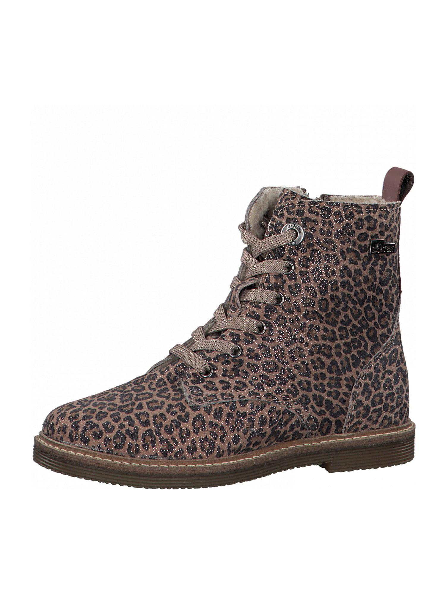 s.Oliver Junior Auliniai batai su kulniuku smėlio / juoda