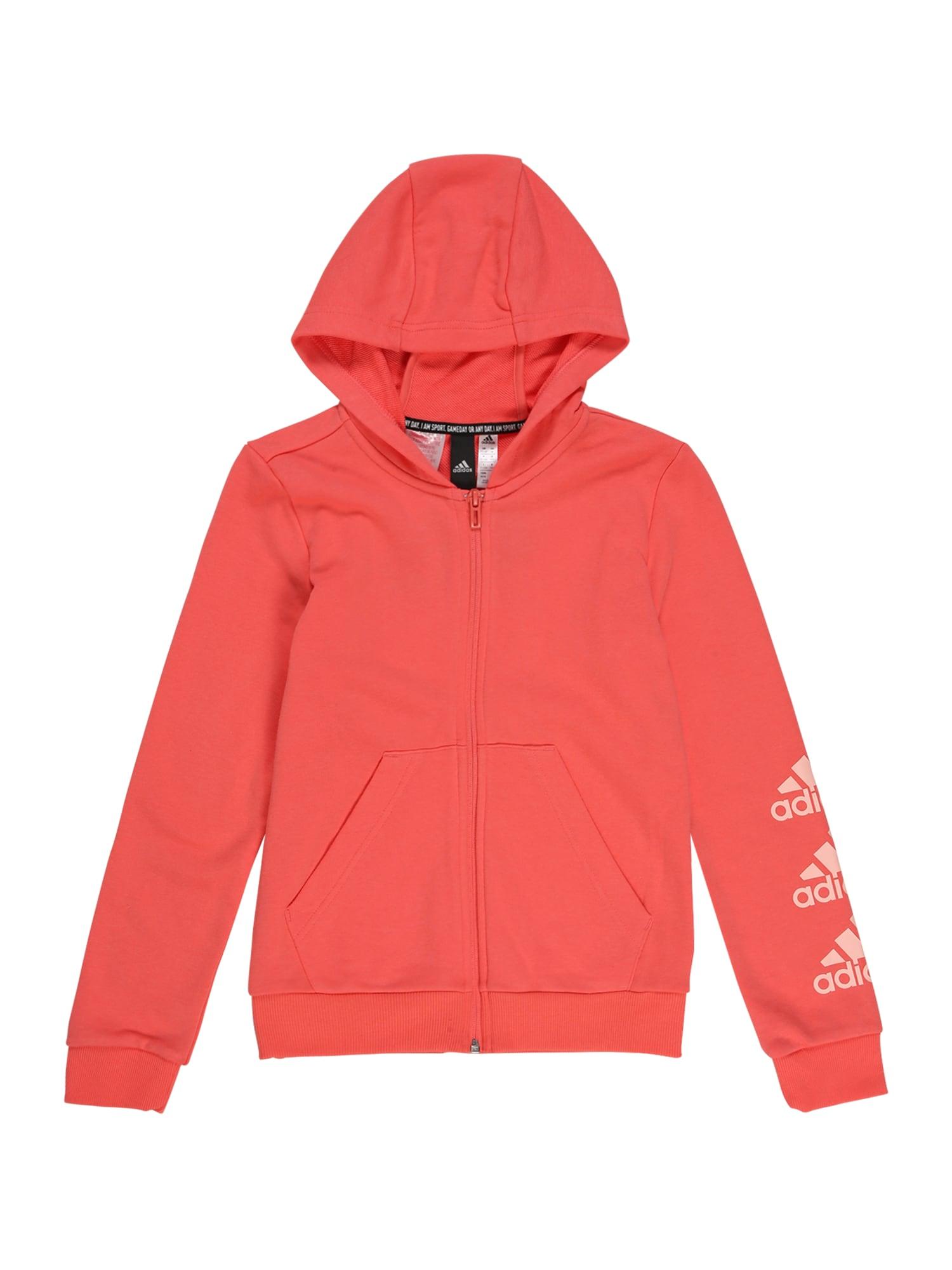 ADIDAS PERFORMANCE Sportinis džemperis koralų splava / šviesiai rožinė
