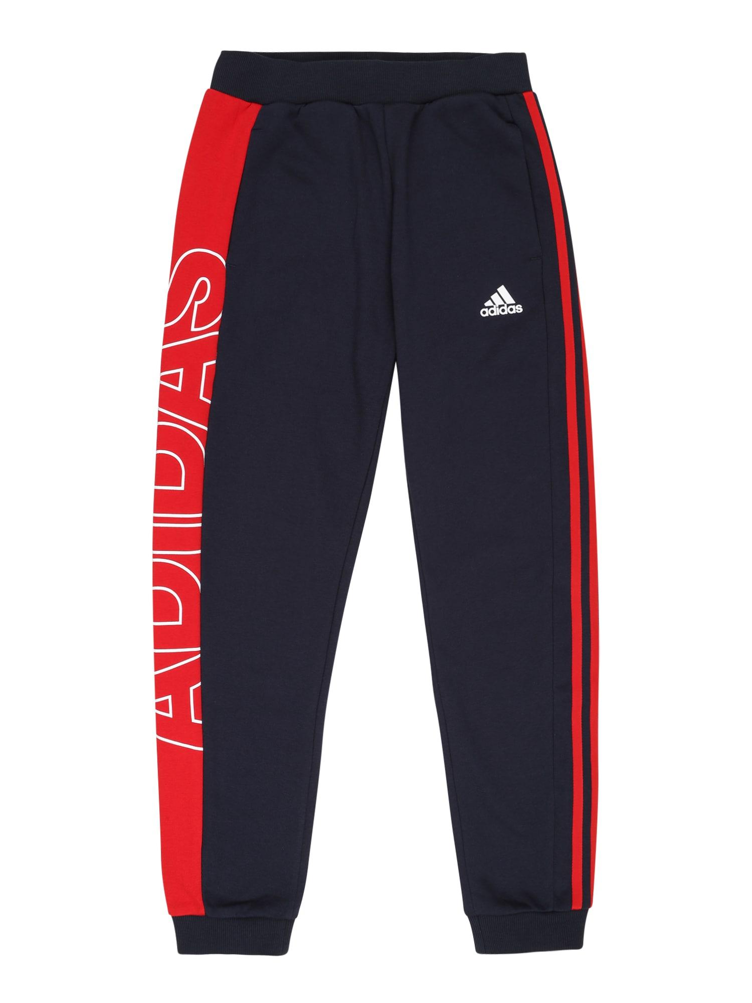 ADIDAS PERFORMANCE Sportovní kalhoty  námořnická modř / červená / bílá