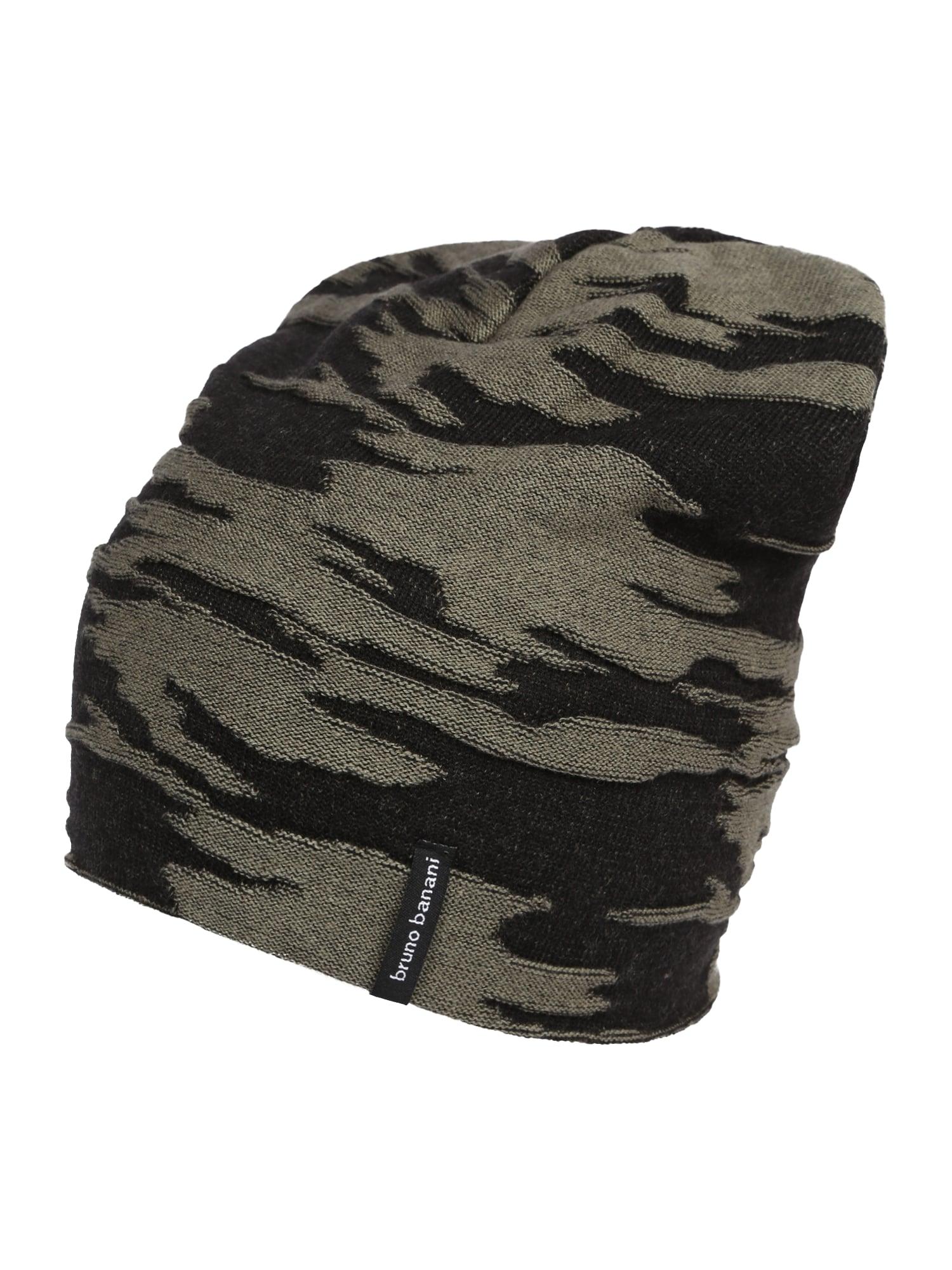 BRUNO BANANI Megzta kepurė juoda / žalia