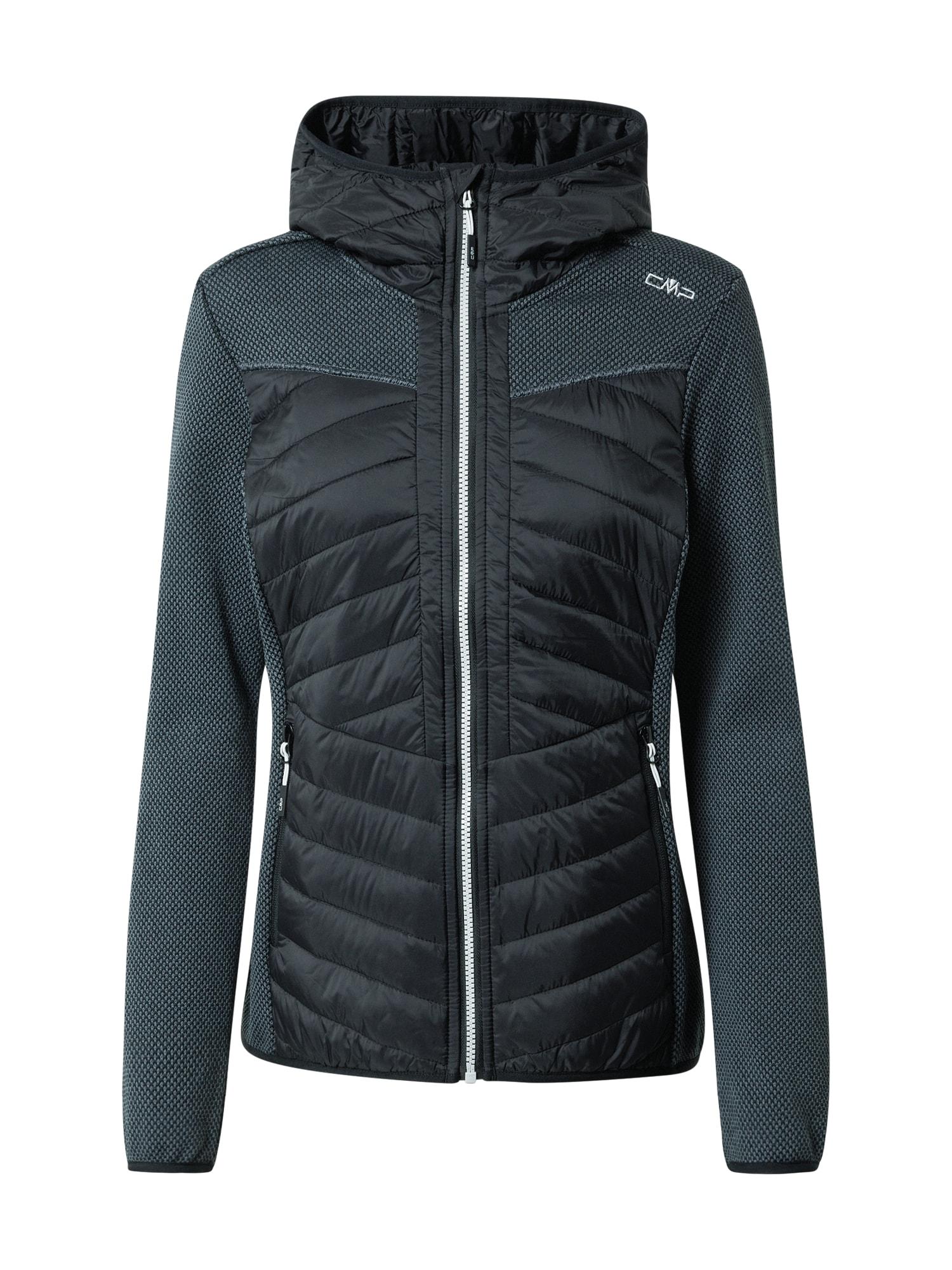 CMP Outdoorová bunda  černá / bílá
