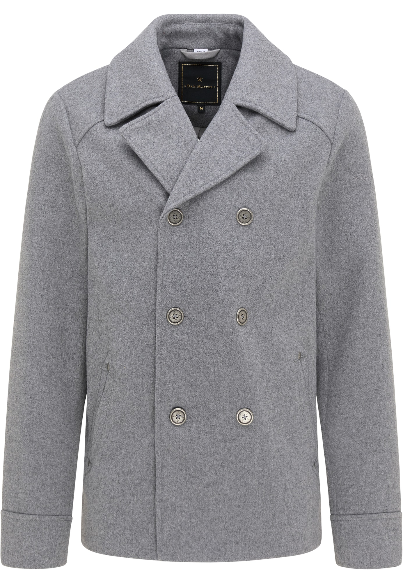 DreiMaster Klassik Demisezoninis paltas šviesiai pilka