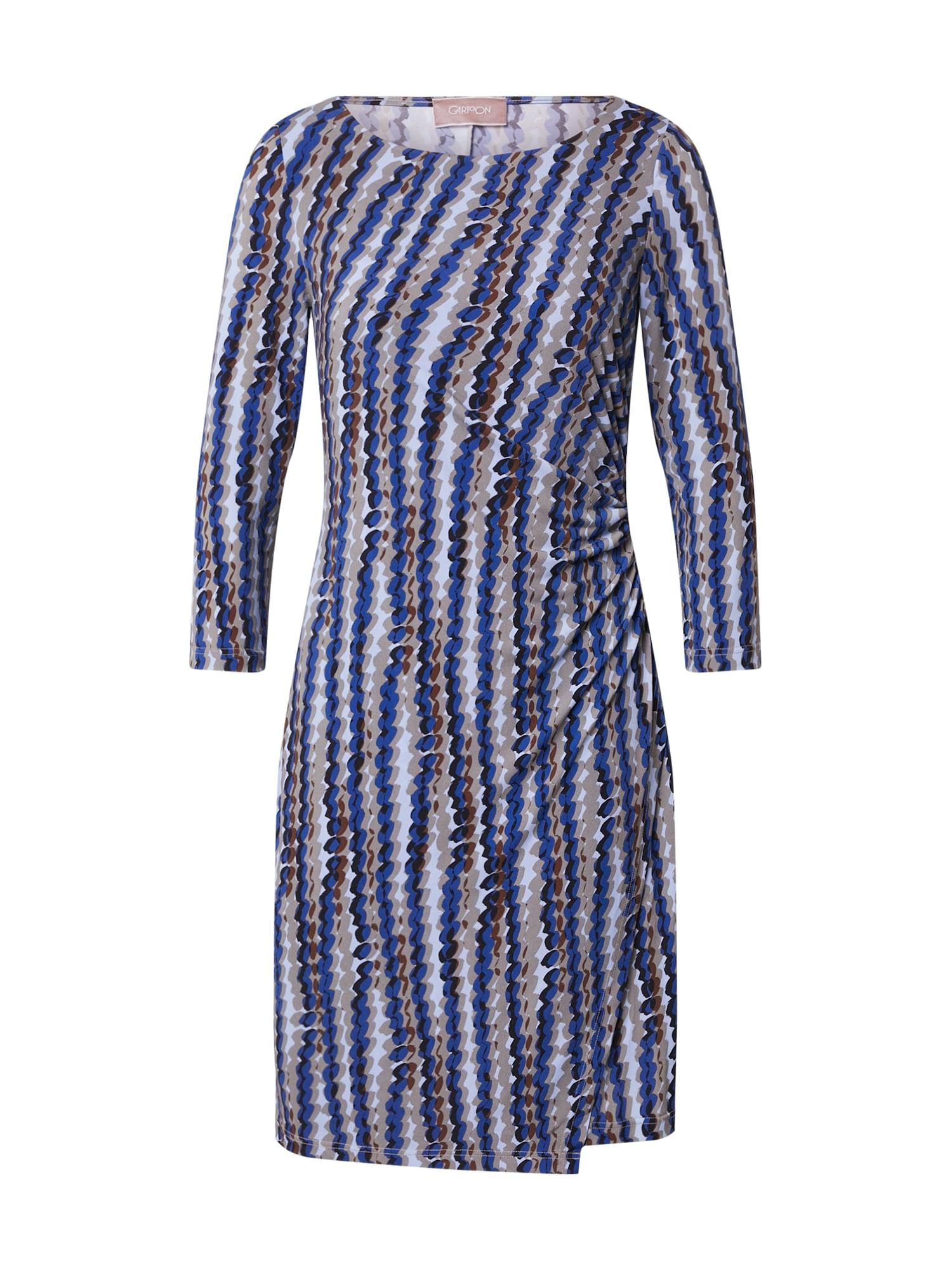 Cartoon Suknelė mėlyna / ruda / pilka / šviesiai mėlyna / kaštoninė spalva