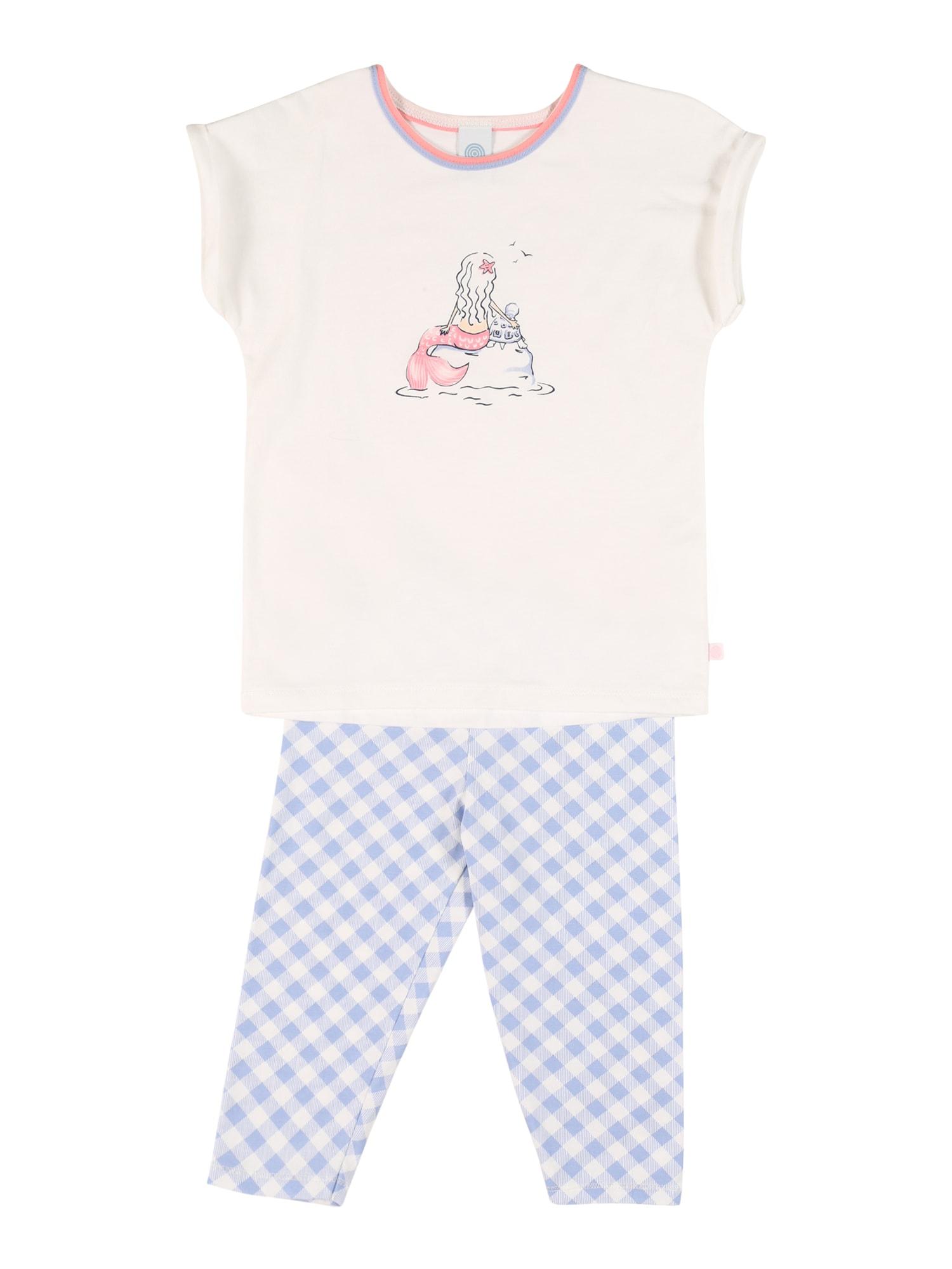 SANETTA Miego kostiumas margai balta / smėlio / šviesiai mėlyna / šviesiai rožinė