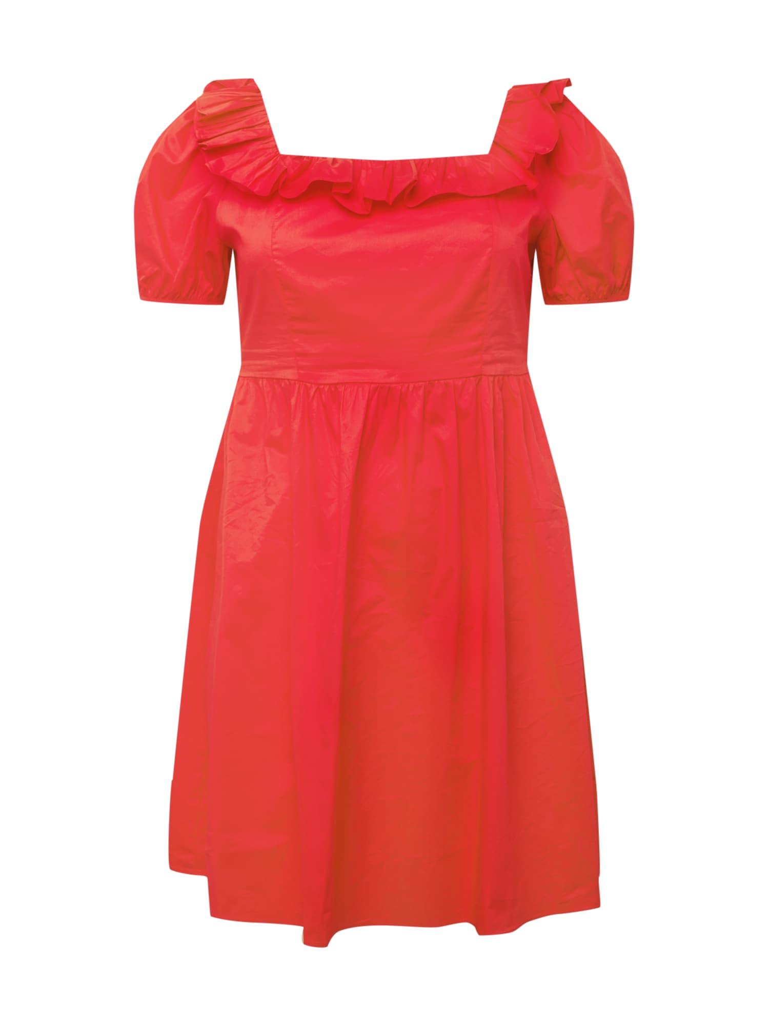 GLAMOROUS CURVE Suknelė raudona