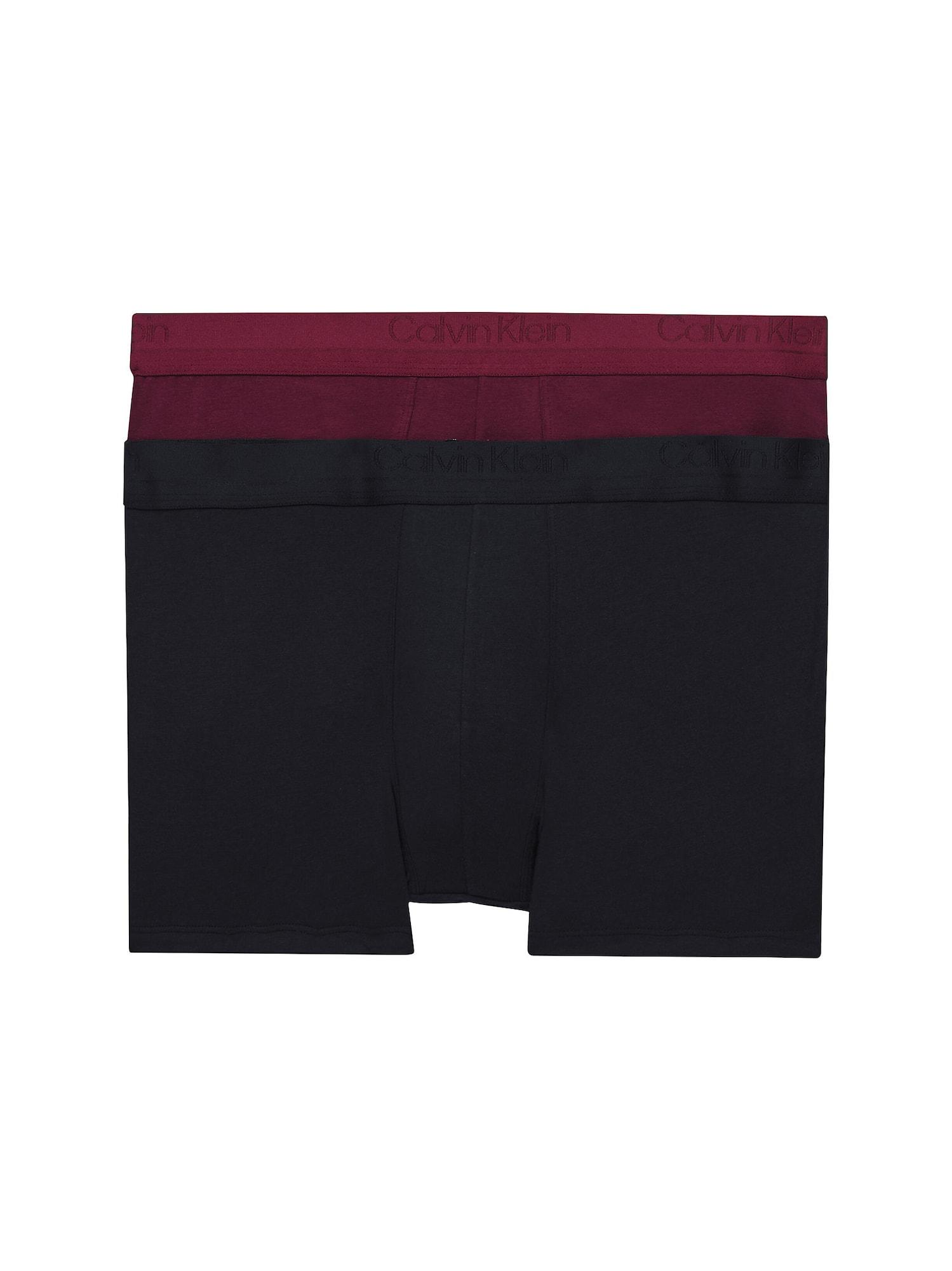 Calvin Klein Underwear Boxer trumpikės juoda / vyno raudona spalva